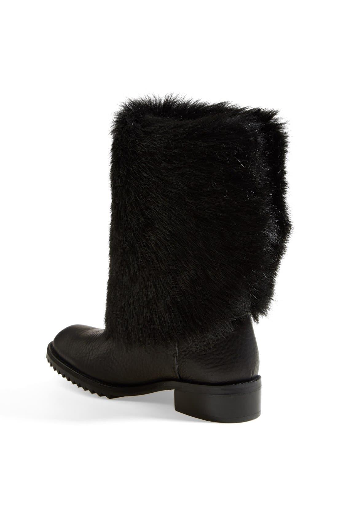 Alternate Image 2  - Pedro Garcia 'Odette' Genuine Shearling & Leather Boot (Women)