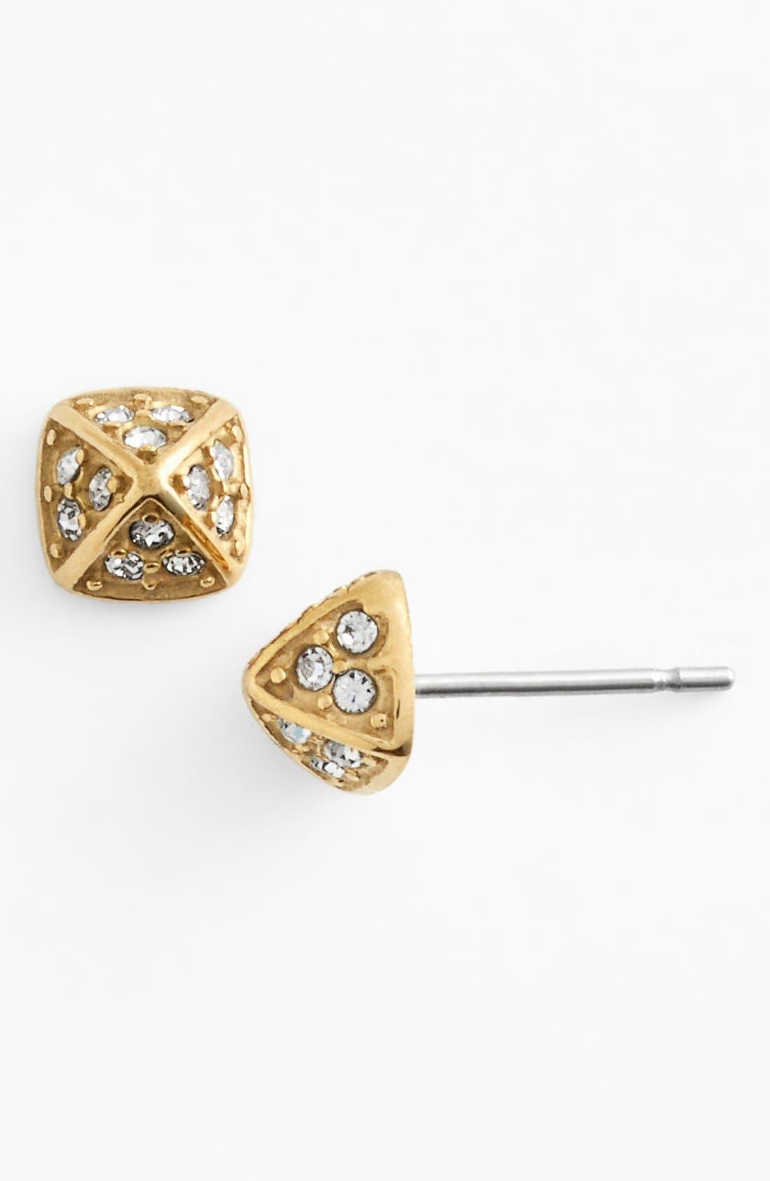 Alternate Image 1 Selected - Rebecca Minkoff 'Jewel Box' Pavé Pyramid Stud Earrings
