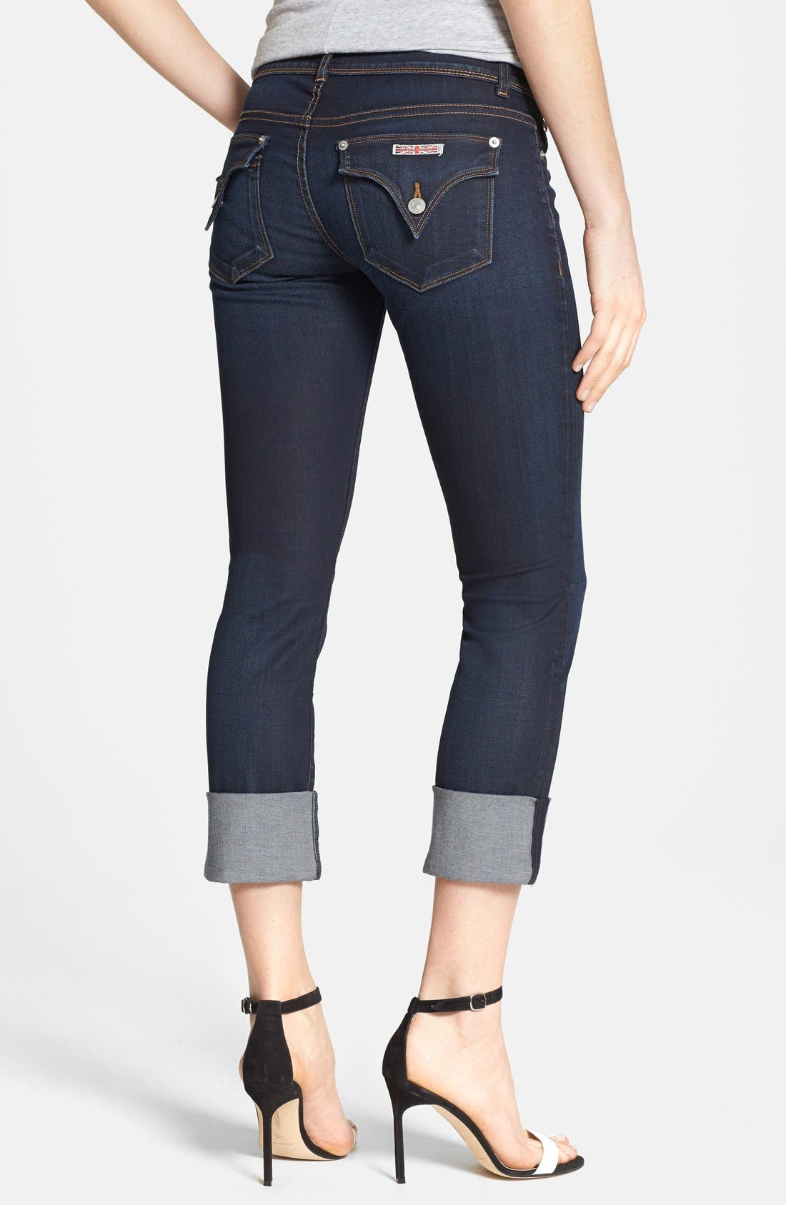 Alternate Image 2  - Hudson Jeans 'Ginny' Crop Stretch Jeans (Forsythia)