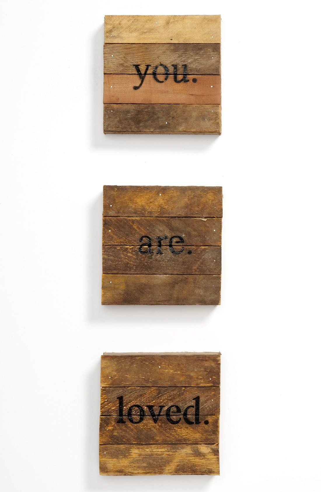 Alternate Image 1 Selected - Second Nature by Hand 'you. are. loved.' Repurposed Wood Wall Art