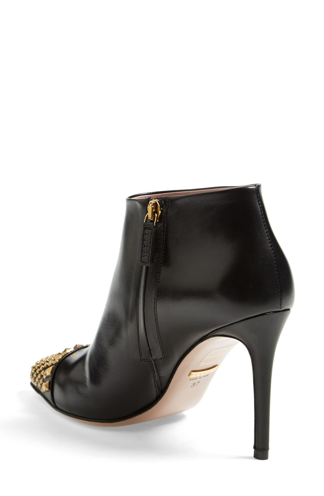 Alternate Image 2  - Gucci 'Coline' Studded Cap Toe Bootie (Women)