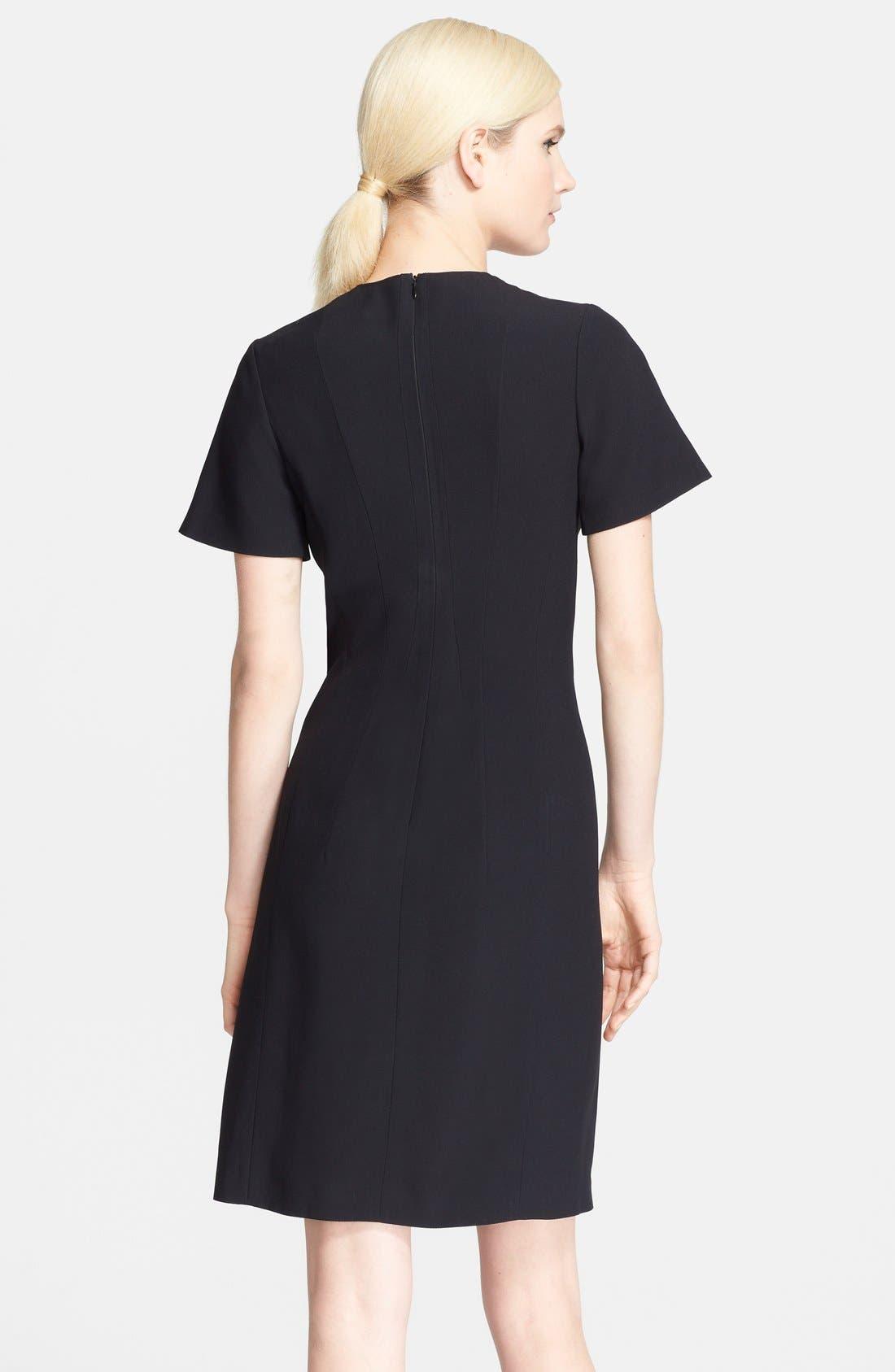 Alternate Image 2  - Cédric Charlier Pleated Crepe & Lamé Dress