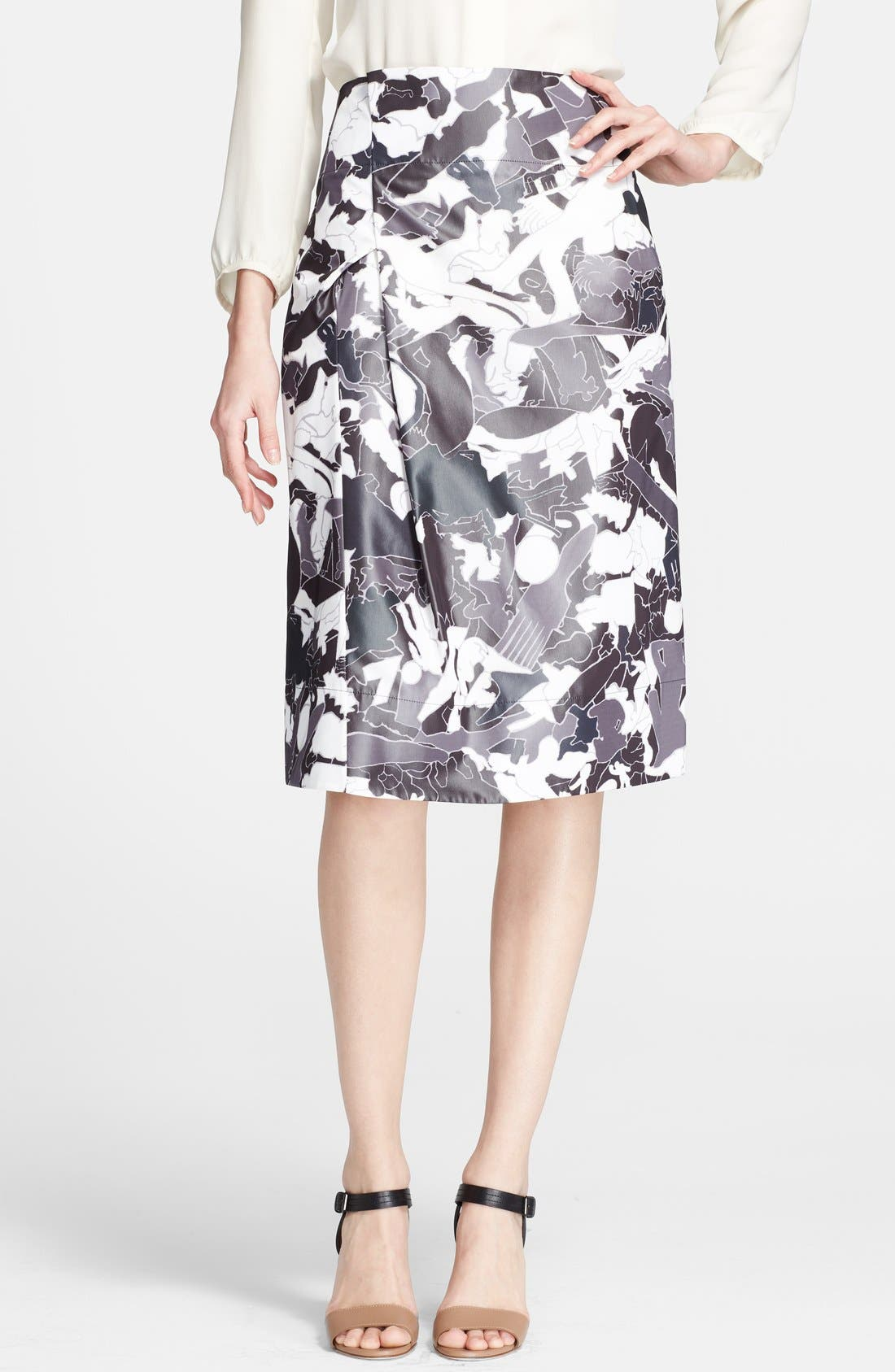 Alternate Image 1 Selected - Jil Sander Print Skirt