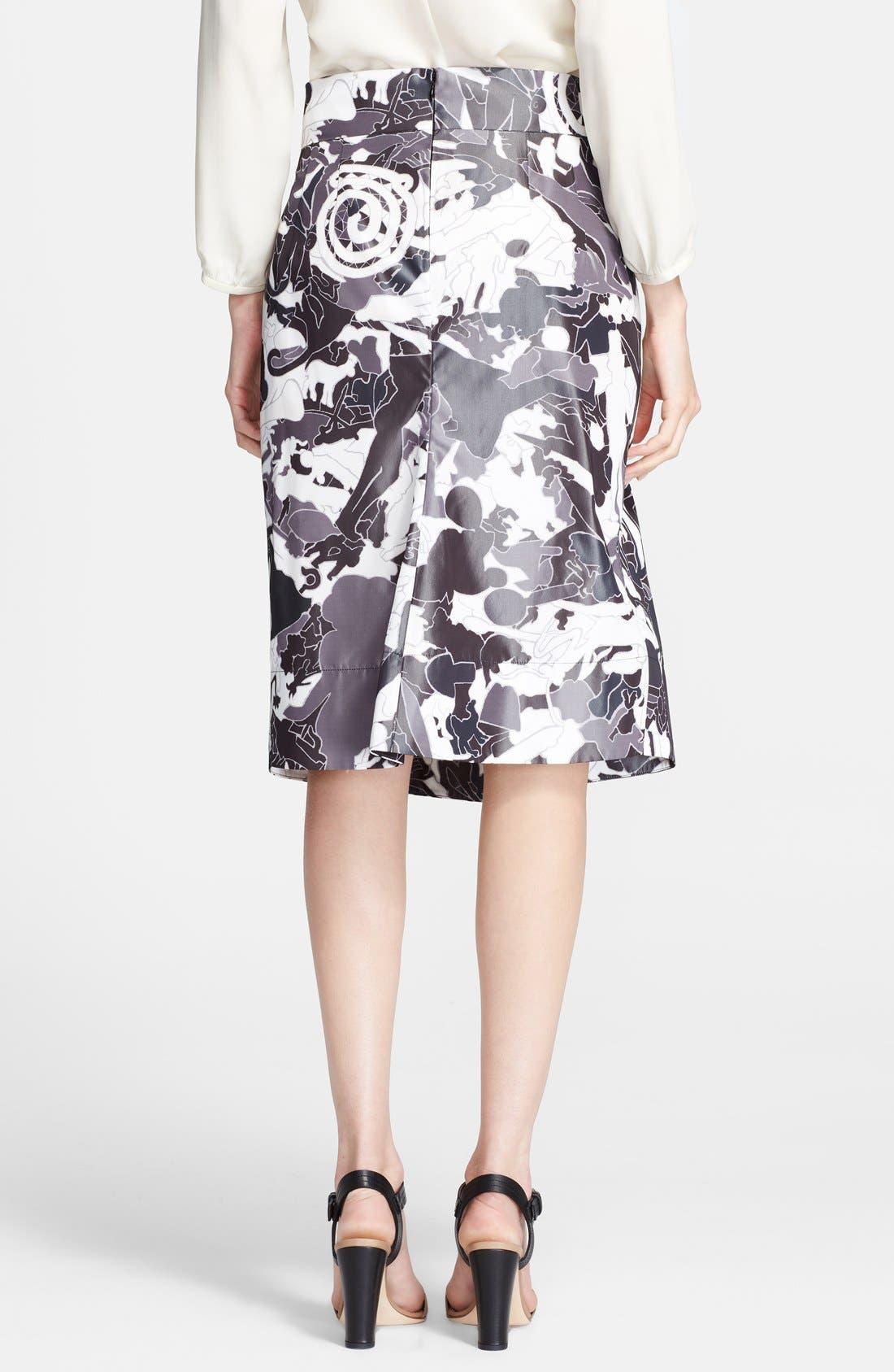Alternate Image 2  - Jil Sander Print Skirt