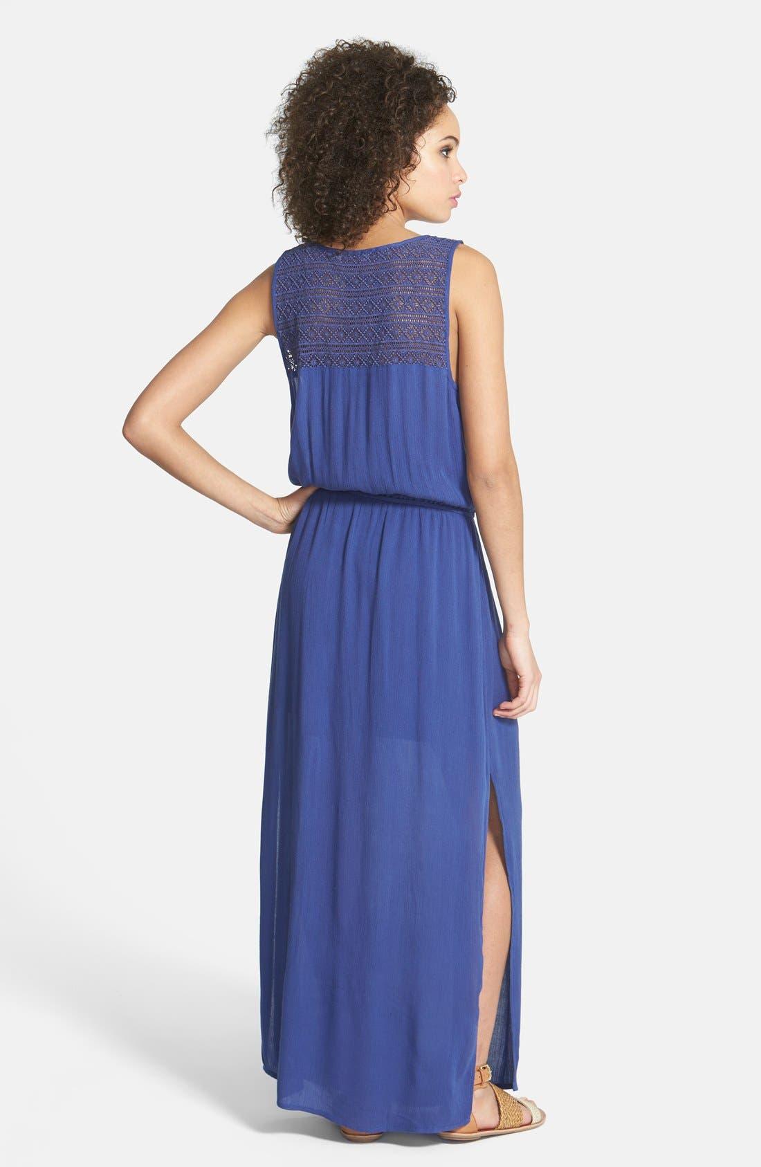 Alternate Image 2  - Hinge® Crochet Bodice Maxi Dress