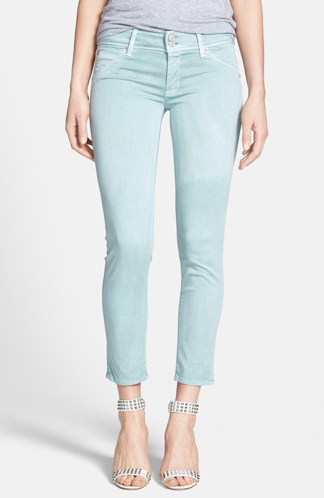 Alternate Image 1 Selected - Hudson Jeans 'Collin' Crop Skinny Jeans (Dusty Pistachio)