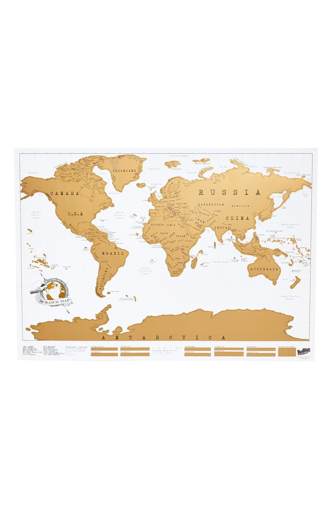 Scratch Map,                         Main,                         color, White