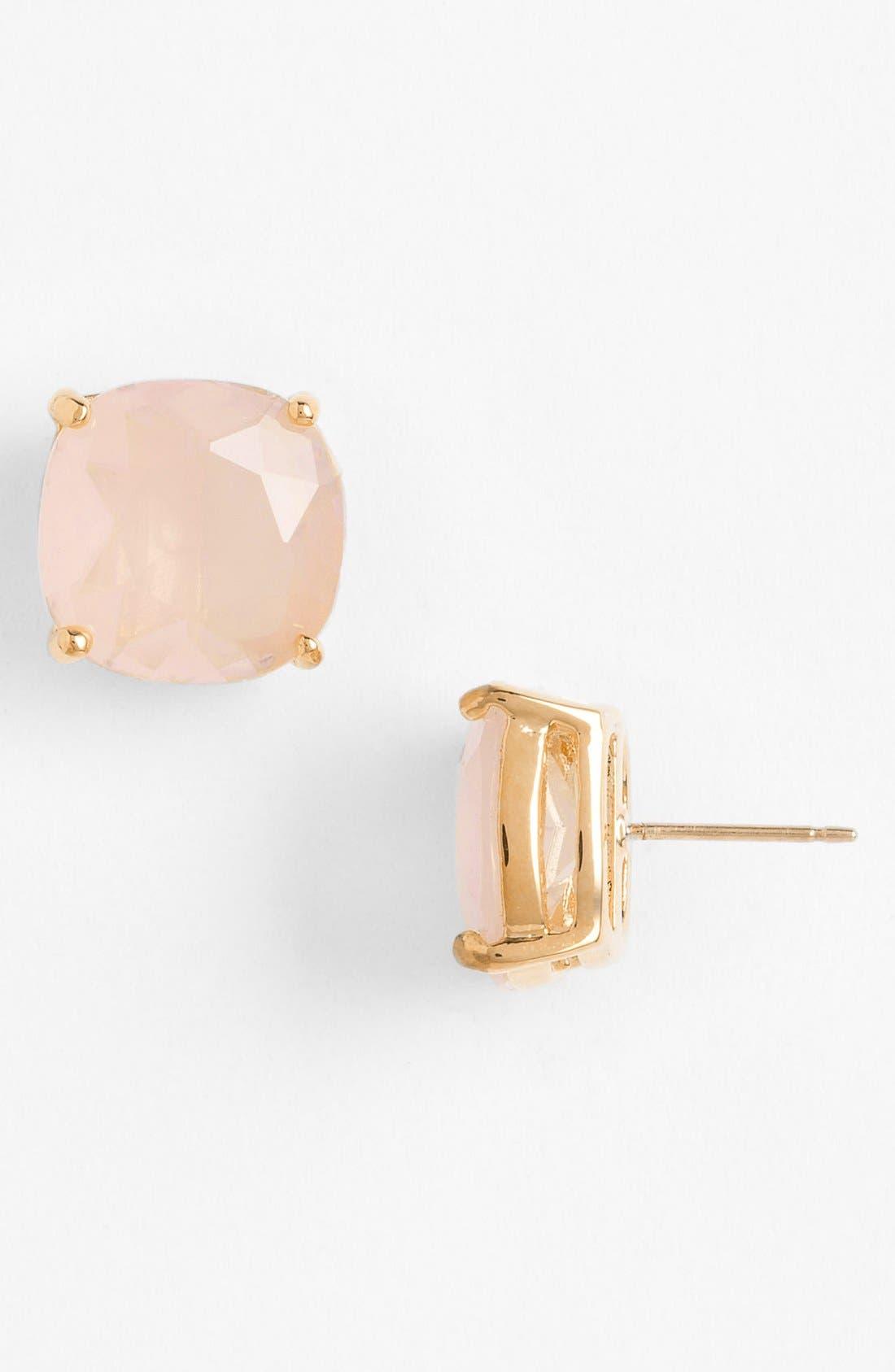 mini small square stud earrings,                             Main thumbnail 1, color,                             Light Pink/ Gold