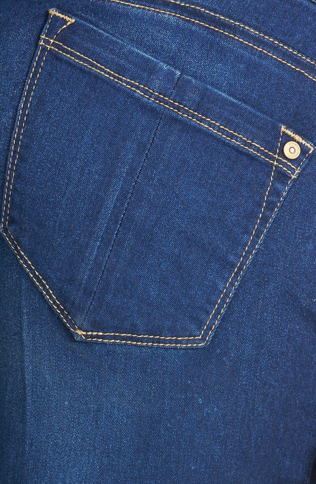 Alternate Image 3  - Jolt Mid-Rise Skinny Jeans (Dark)