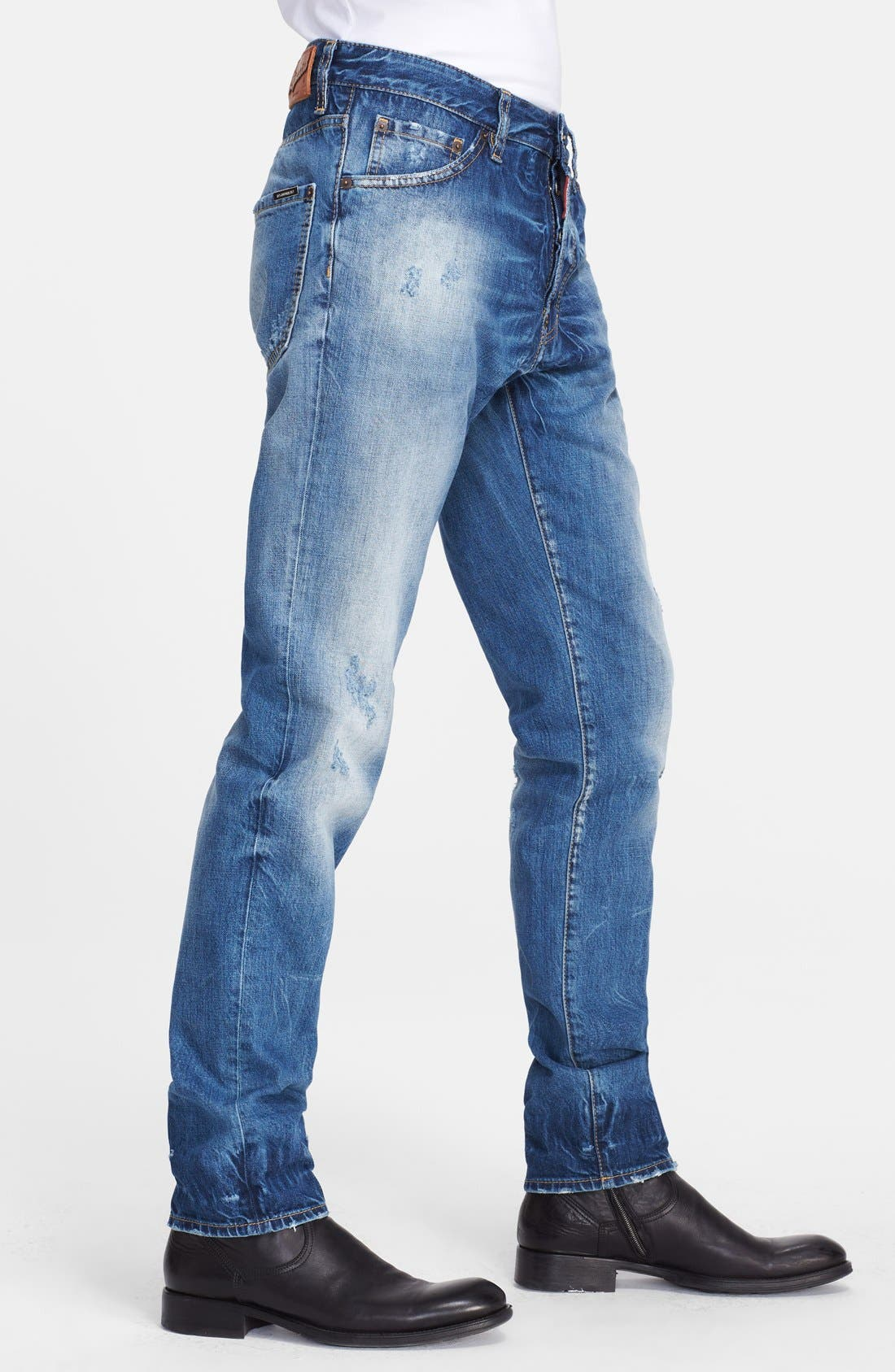 'Cool Guy' Skinny Fit Jeans,                             Alternate thumbnail 3, color,                             Blue