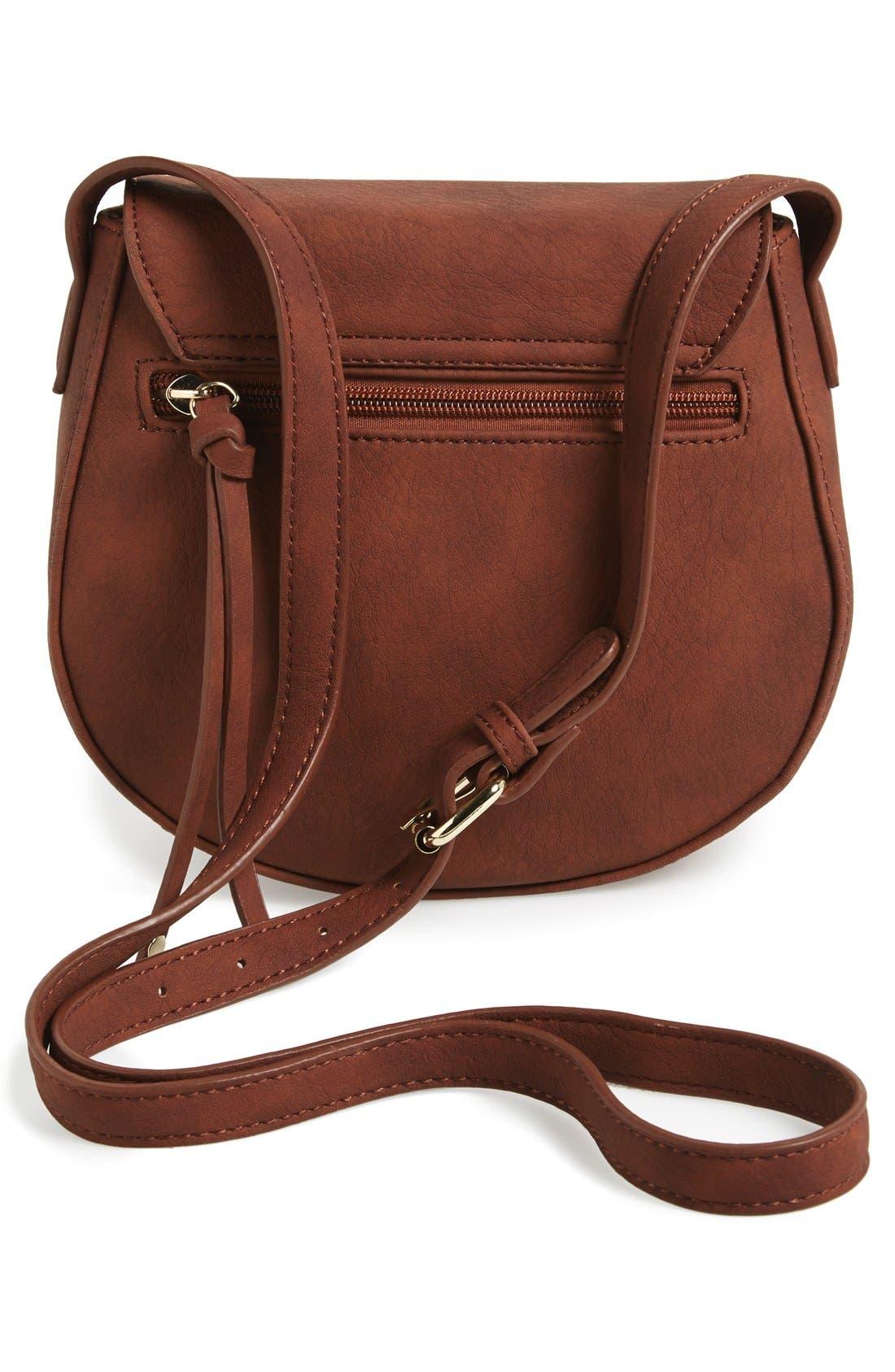 Alternate Image 4  - BP. Zip Detail Saddle Crossbody Bag (Juniors)