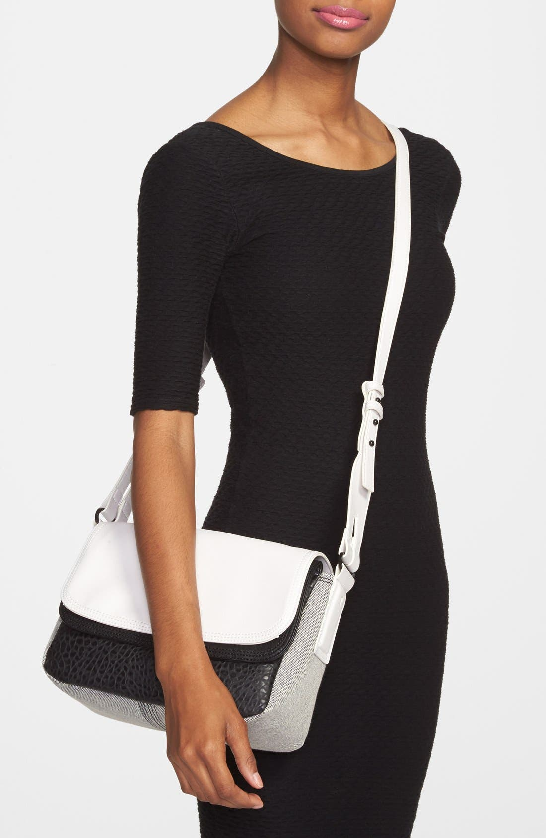 Alternate Image 2  - French Connection Faux Leather Crossbody Bag