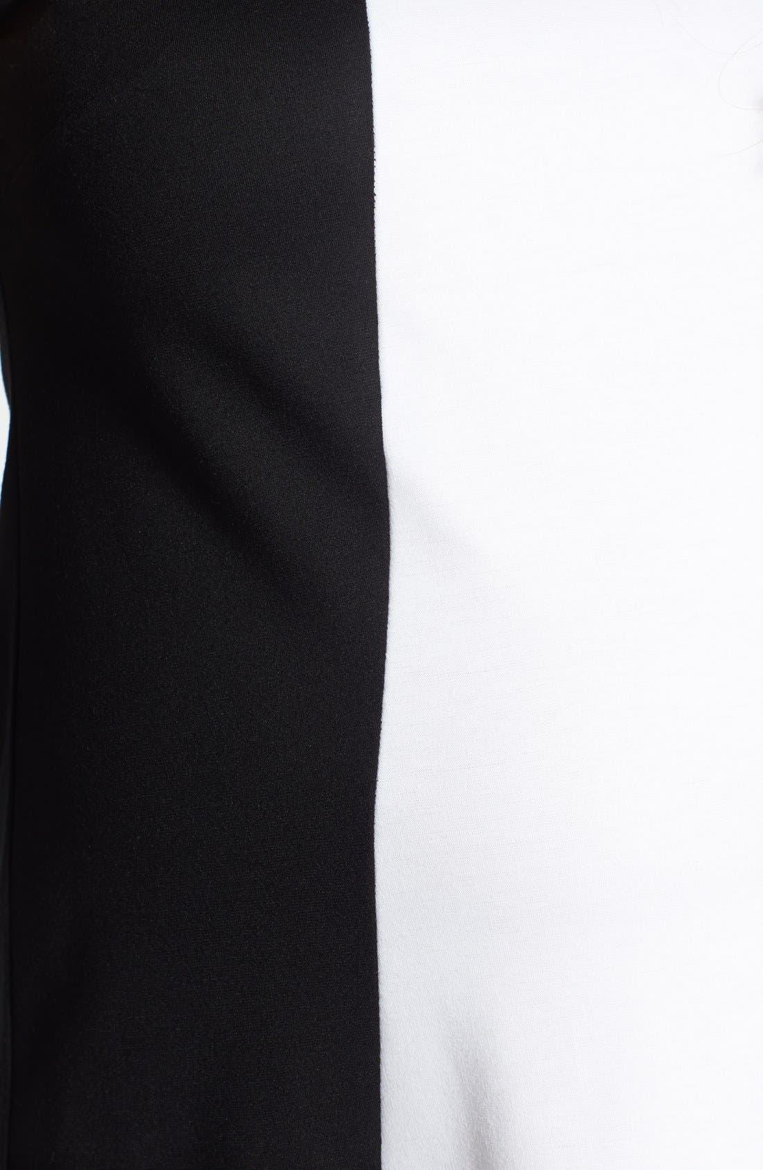'Pyramid' Maternity Dress,                             Alternate thumbnail 2, color,                             Black/ White
