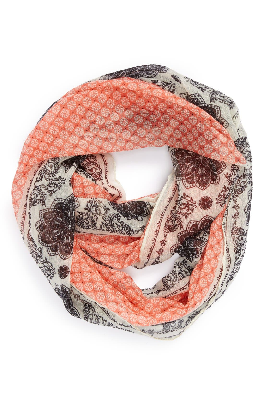 Main Image - Sole Society Mixed Print Infinity Scarf