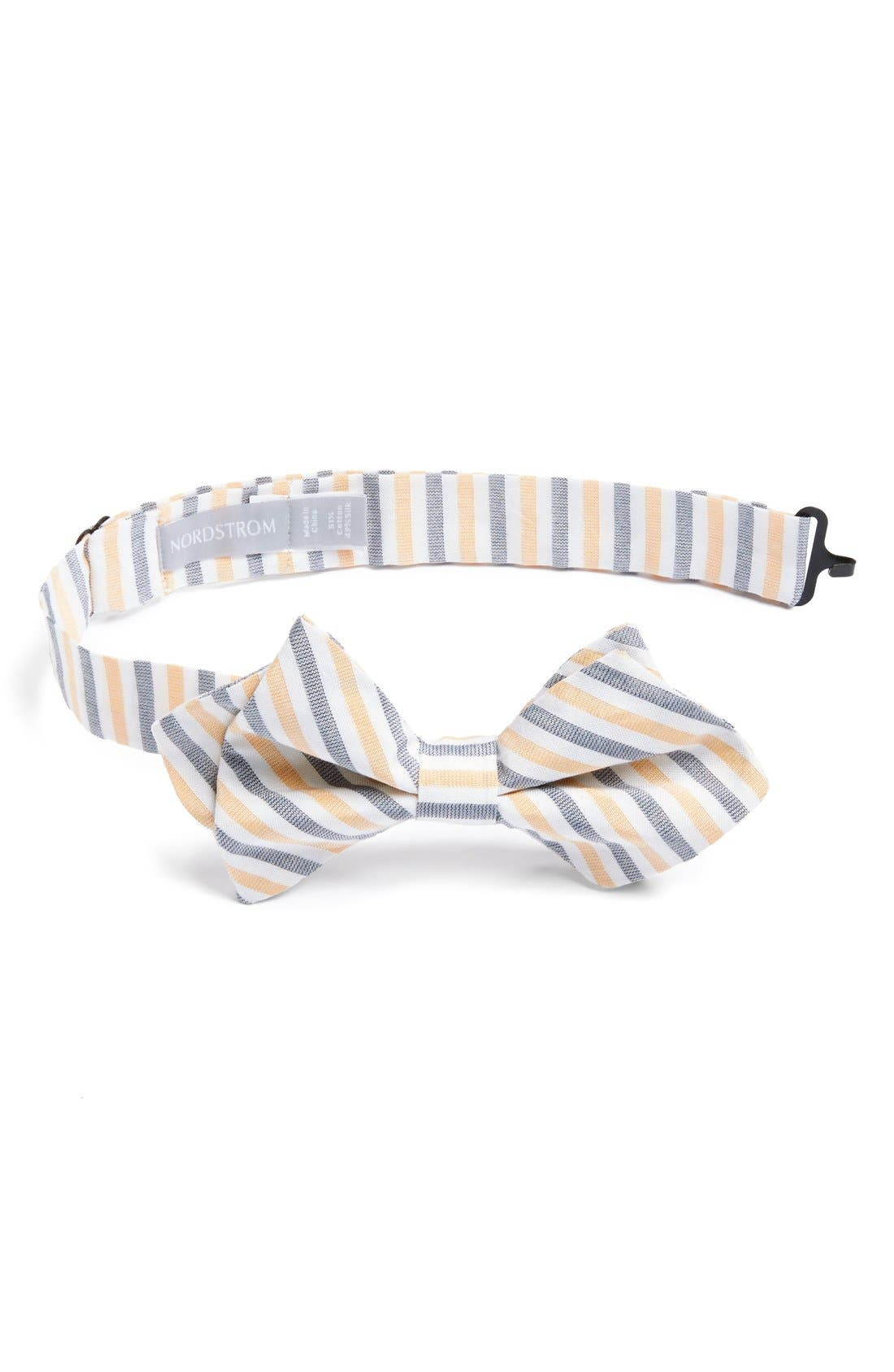Alternate Image 1 Selected - Nordstrom Cotton & Silk Bow Tie (Big Boys)