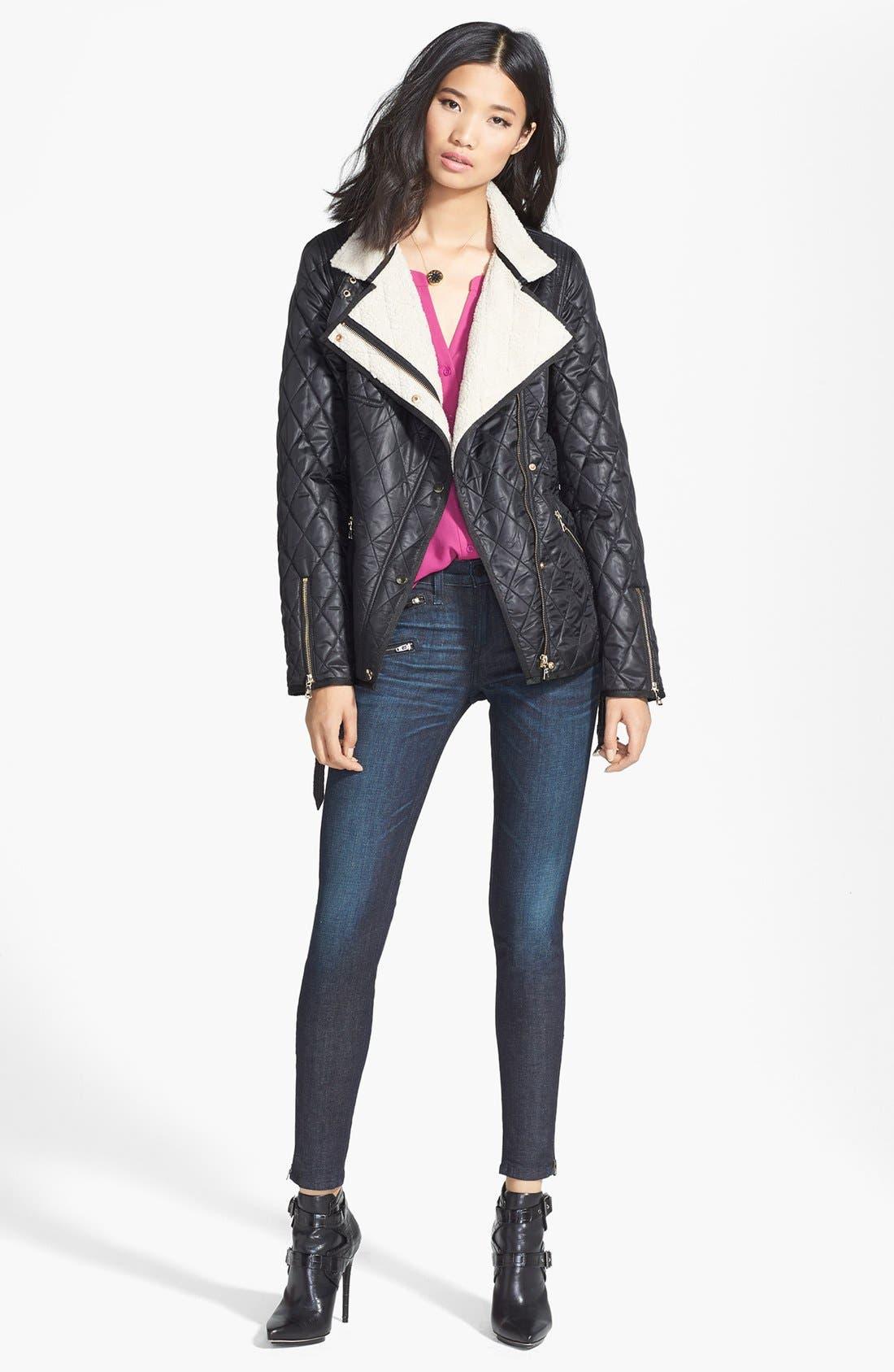 Alternate Image 6  - rag & bone/JEAN Zip Detail Skinny Jeans (Kensington) (Nordstrom Exclusive)