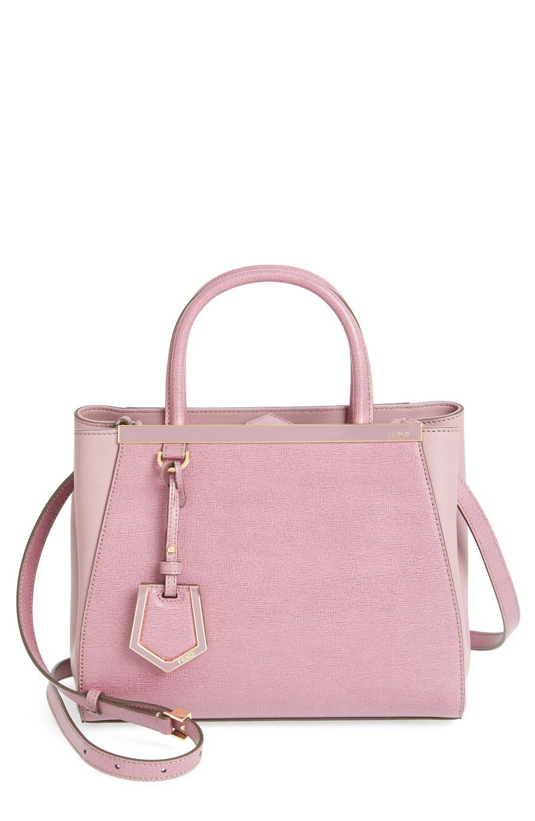 Alternate Image 1 Selected - Fendi 'Petite 2Jours Elite' Leather Shopper