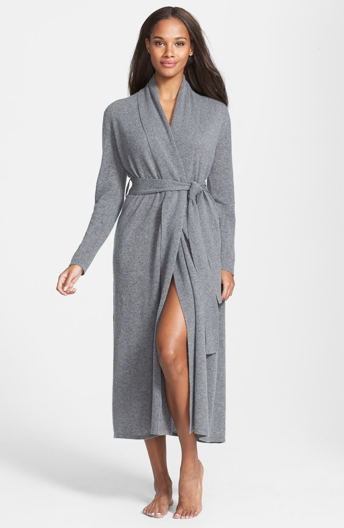 Alternate Image 1 Selected - Nordstrom Collection Cashmere Robe (Online Only)