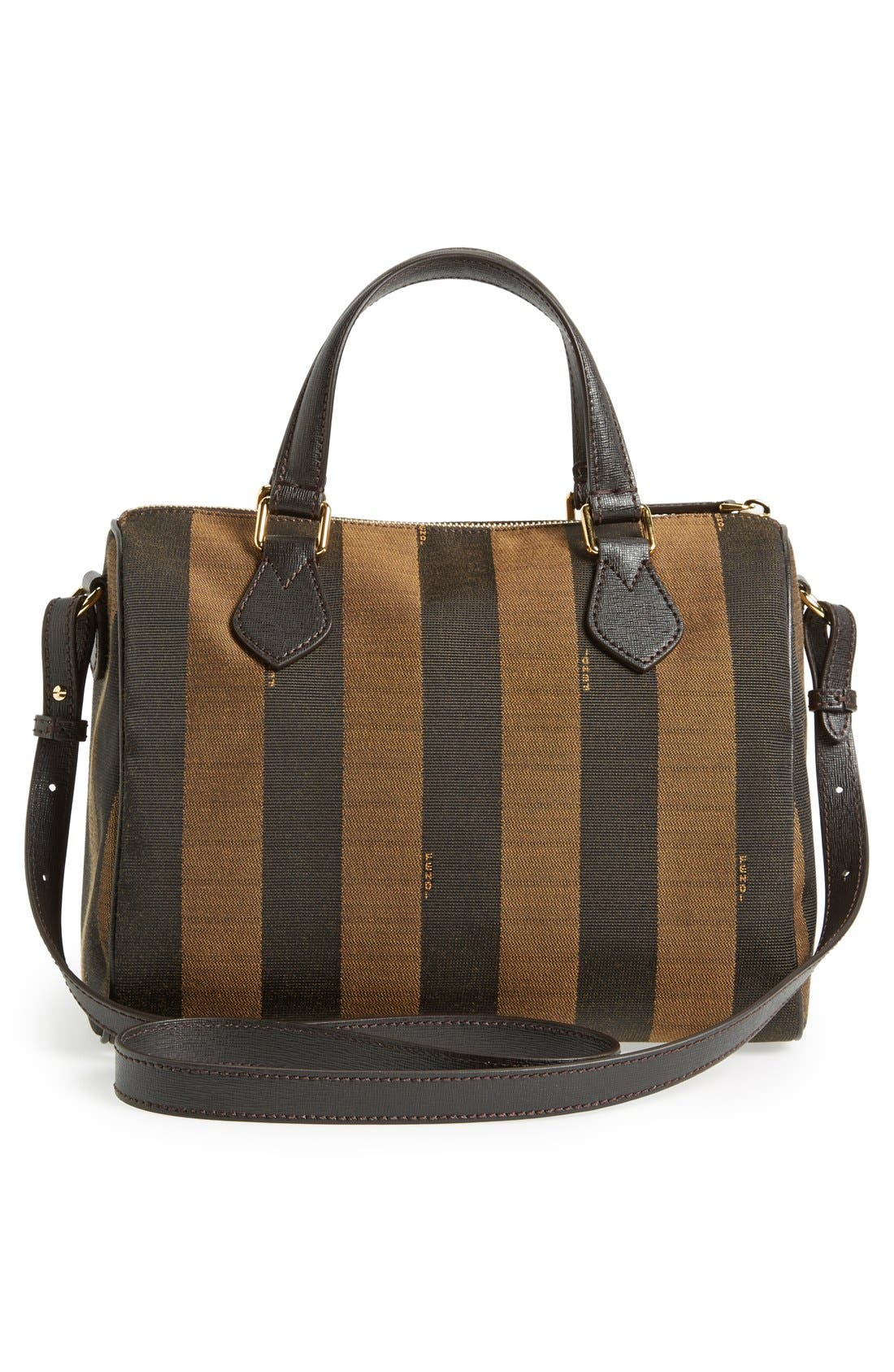 Alternate Image 4  - Fendi 'Small Pequin' Logo Jacquard Shoulder Bag