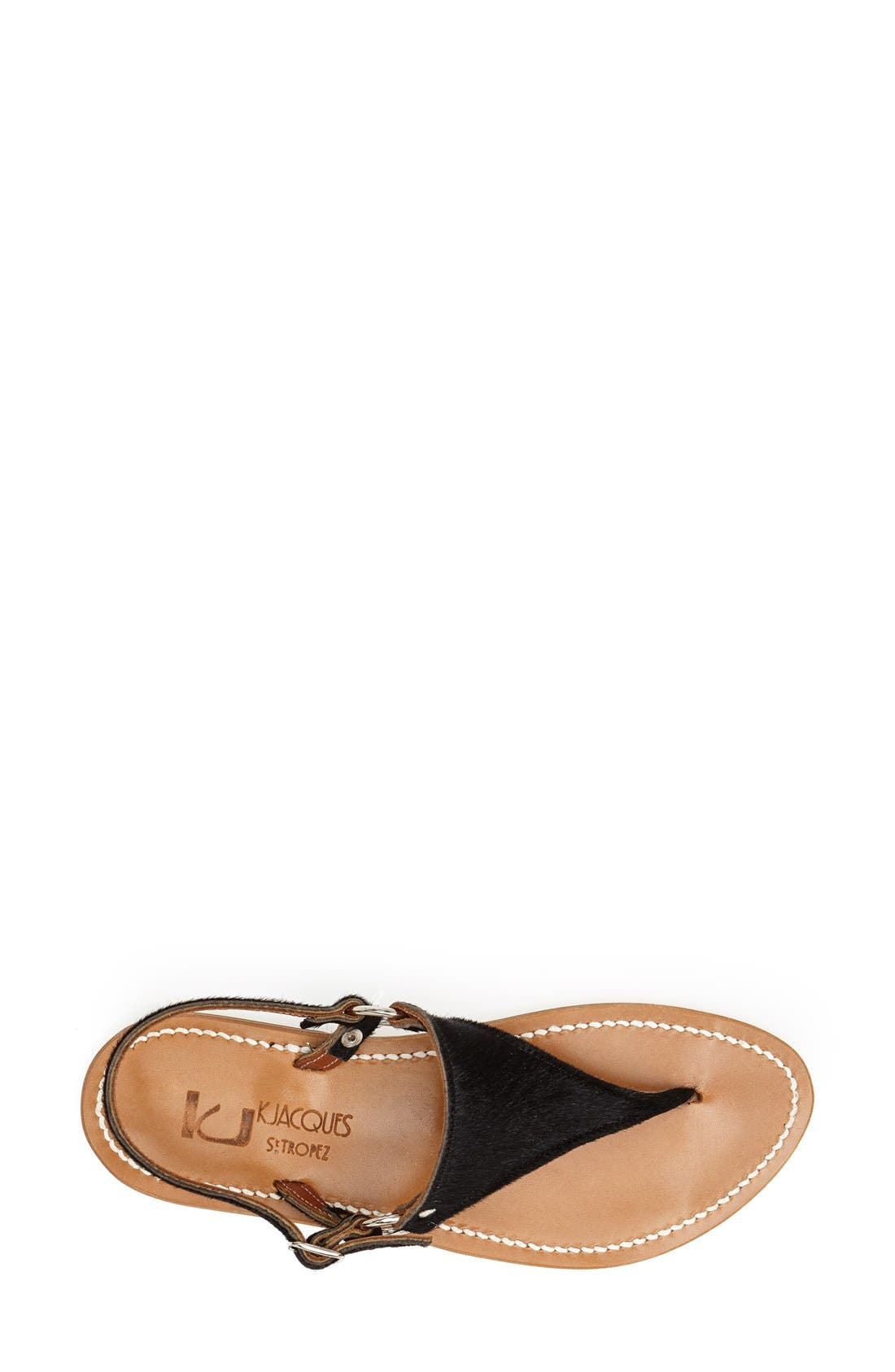 Alternate Image 3  - K.Jacques St. Tropez 'Triton' V Strap Calf Hair Thong Sandal (Women)