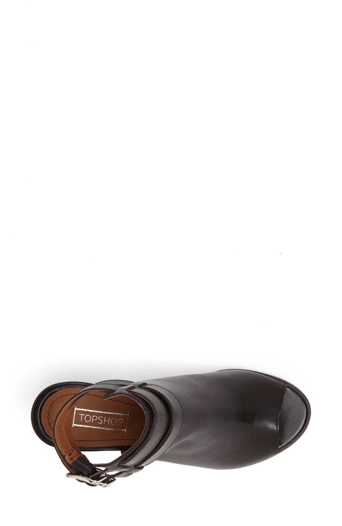 'Jolie' Bootie Sandal,                             Alternate thumbnail 3, color,                             Black