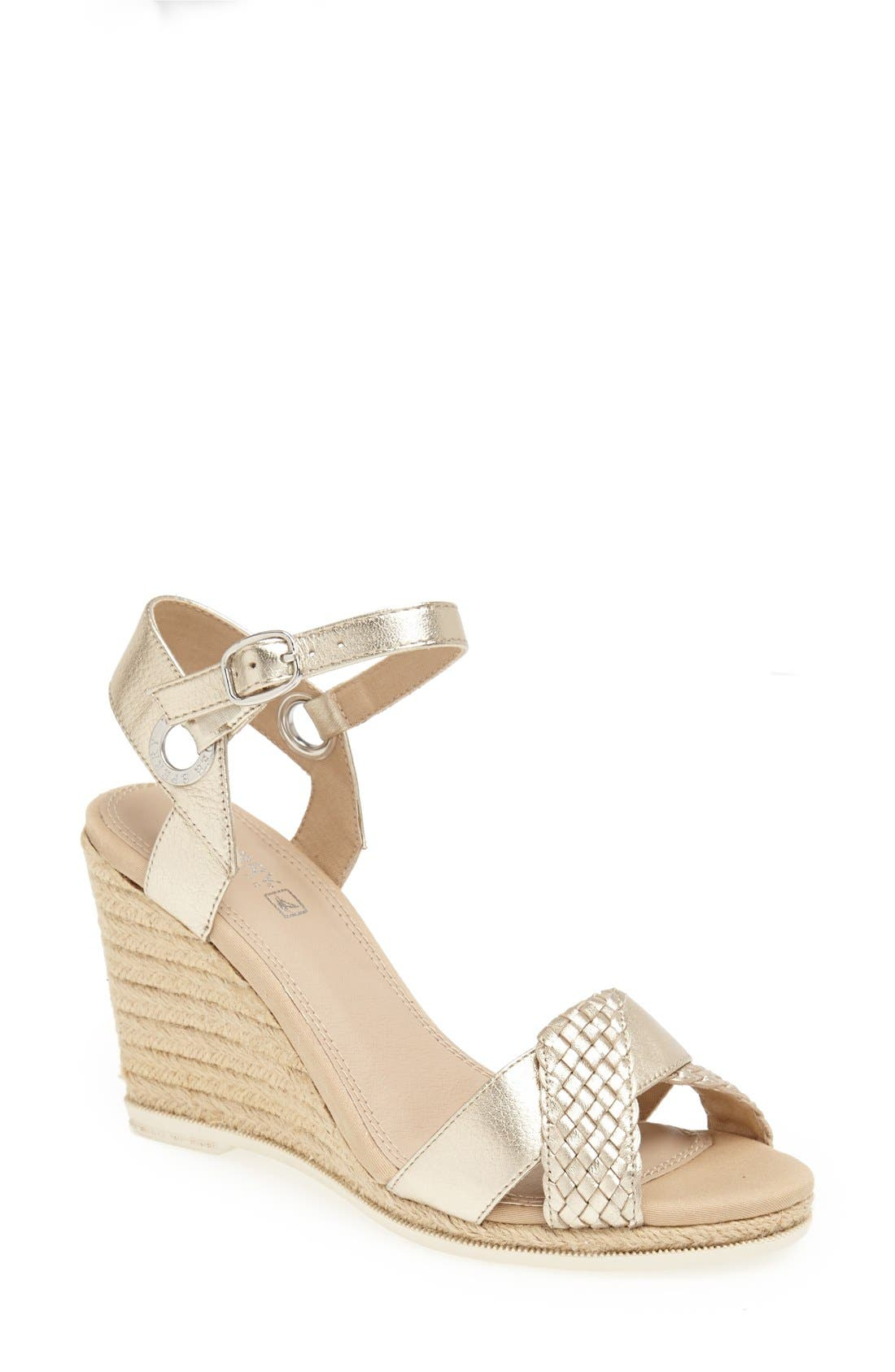 Alternate Image 1 Selected - Sperry Top-Sider® 'Saylor' Wedge Sandal (Women)