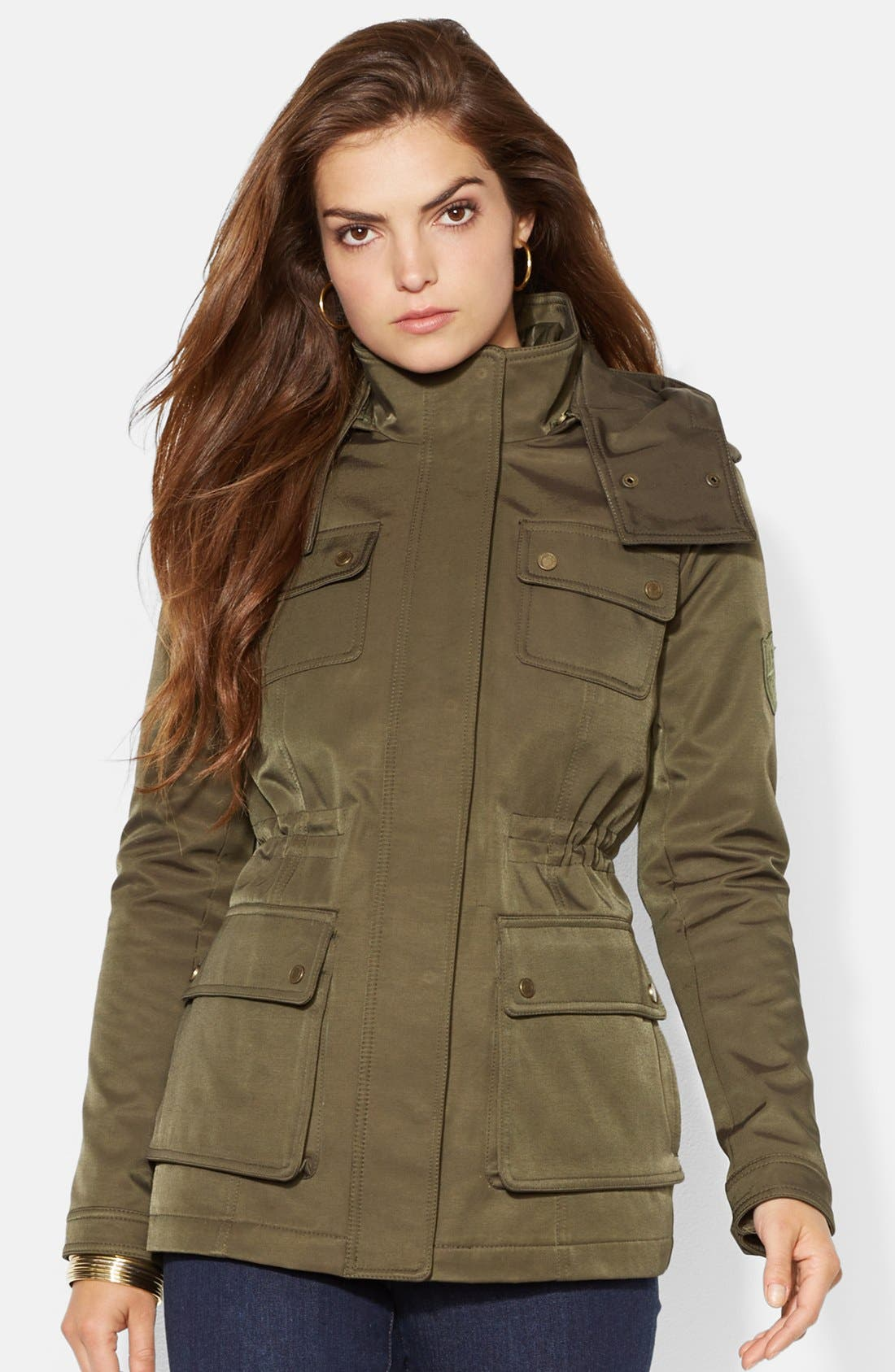 Main Image - Lauren Ralph Lauren Two-in-One Anorak with Removable Quilted Vest