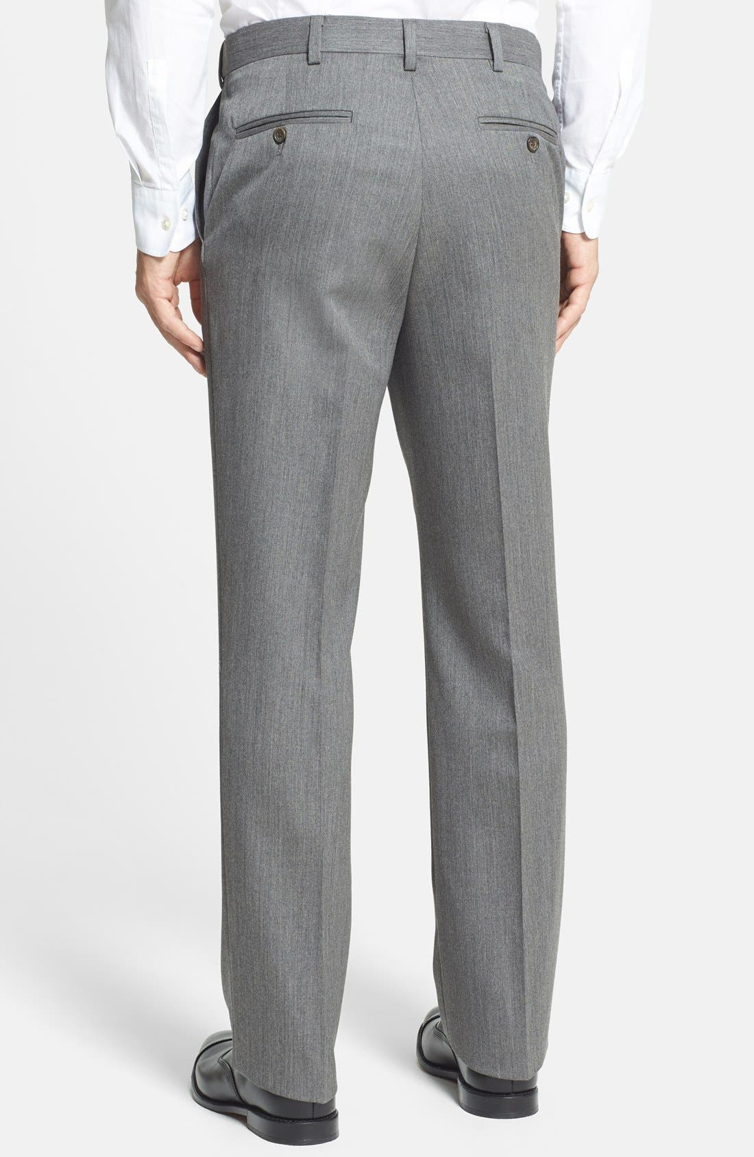 Alternate Image 3  - Berle Self Sizer Waist Flat Front Wool Gabardine Trousers