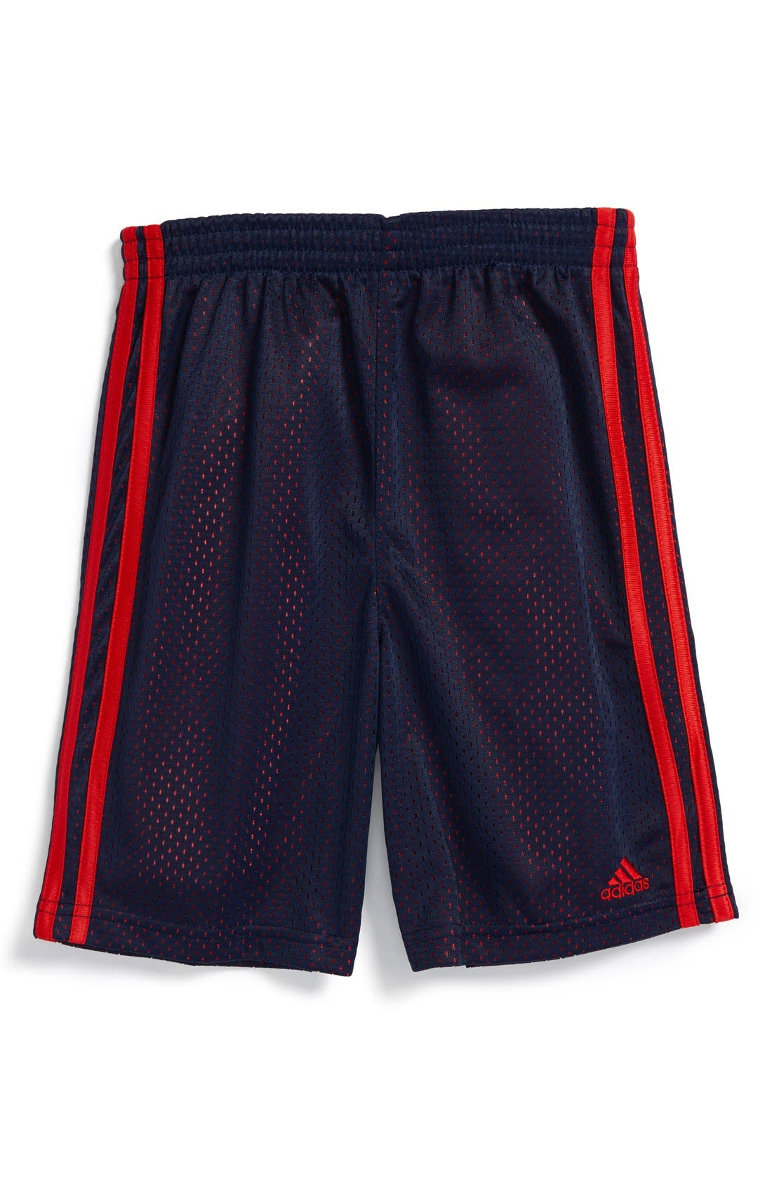 Alternate Image 1 Selected - adidas Mesh Shorts (Little Boys)