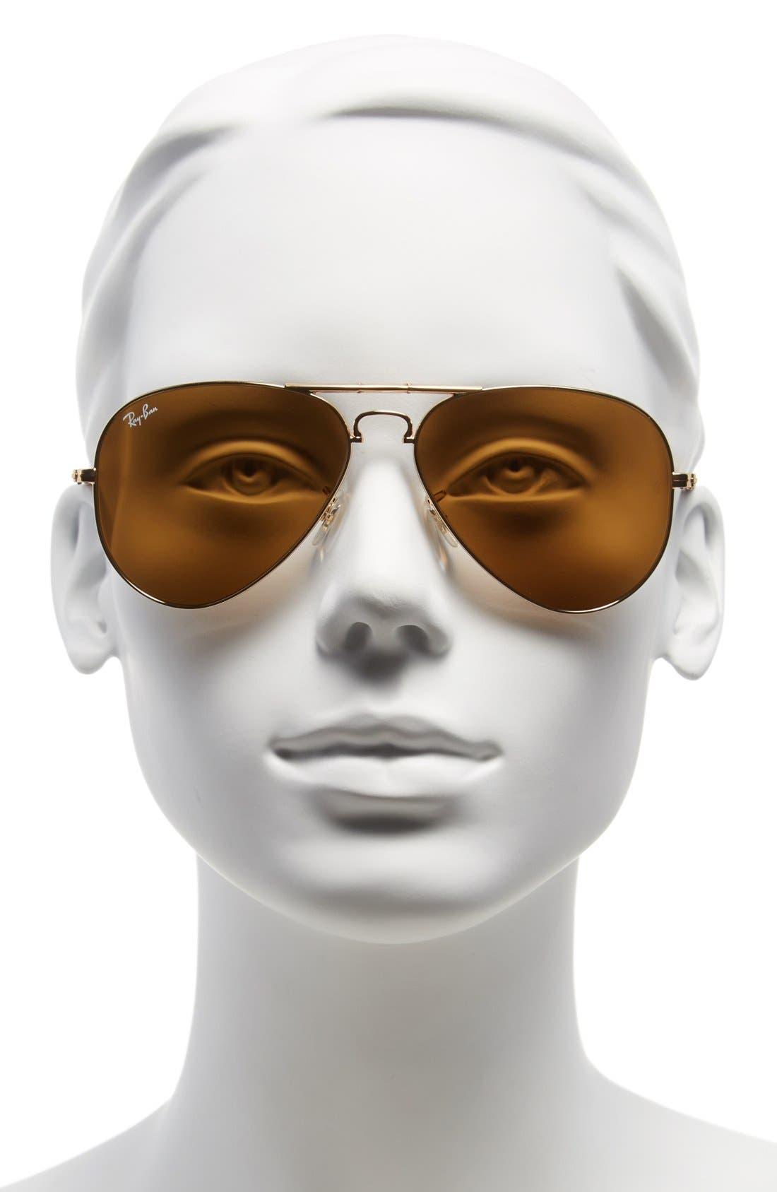 Alternate Image 2  - Ray-Ban 58mm Folding Aviator Sunglasses