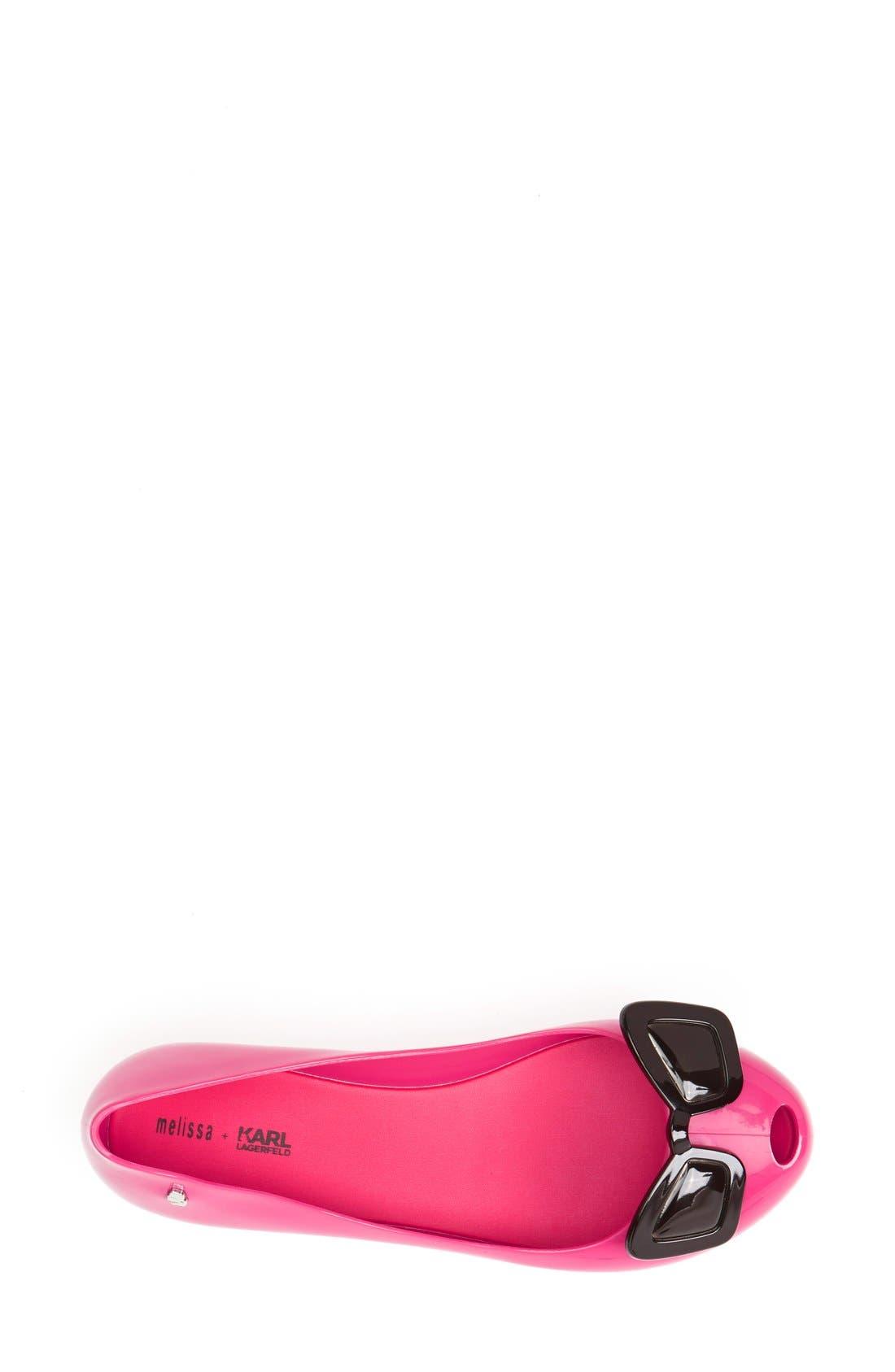 Alternate Image 3  - Melissa + Karl Lagerfeld 'Ultragirl' Jelly Flat