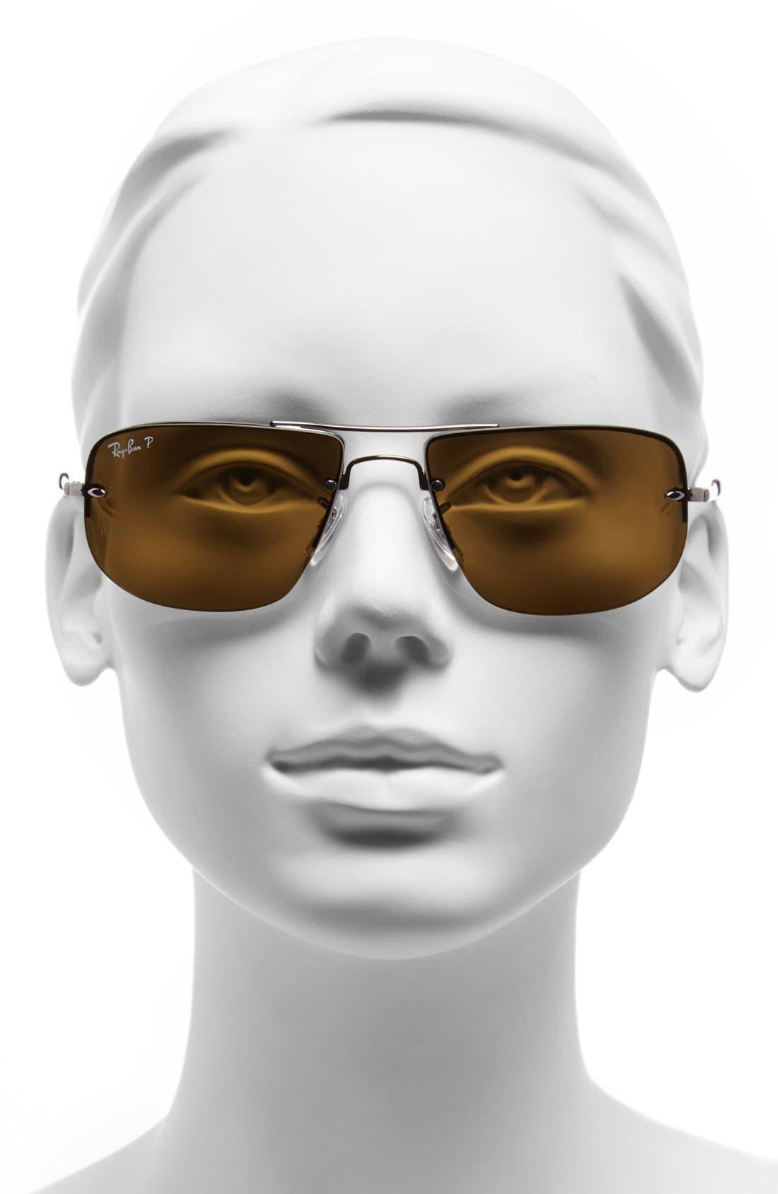 Alternate Image 2  - Ray-Ban 59mm Polarized Semi Rimless Sunglasses
