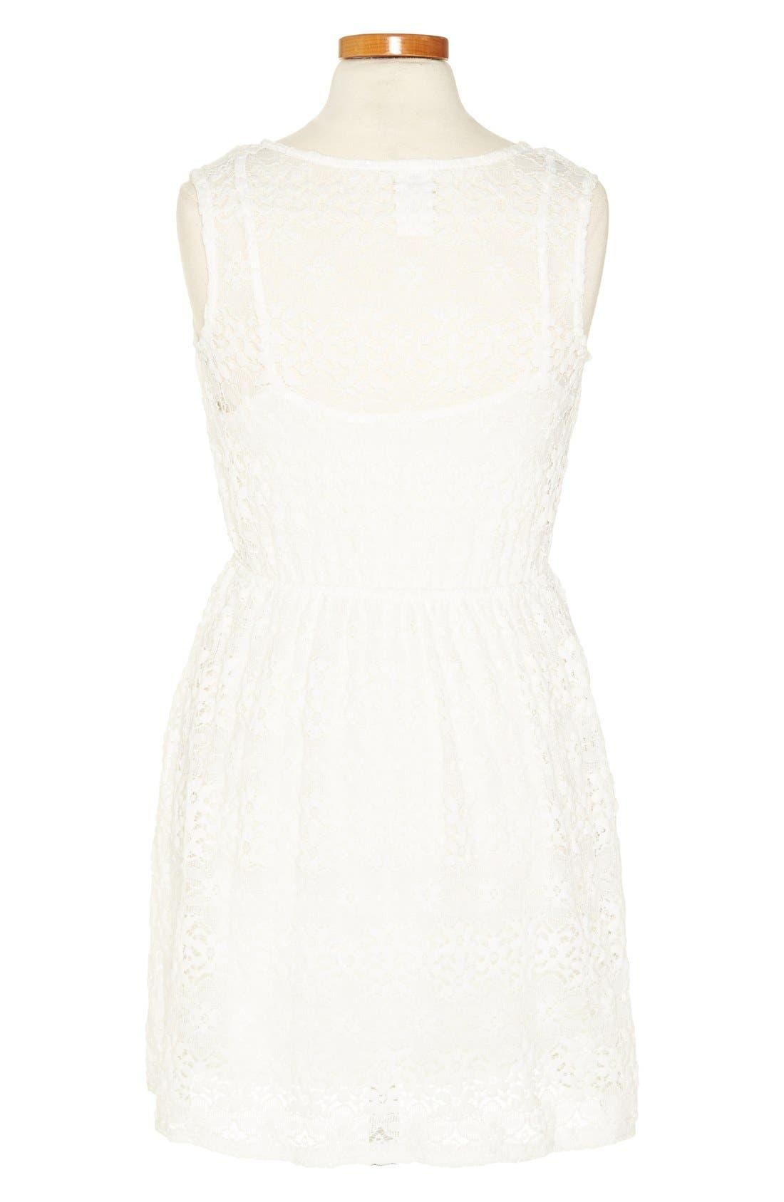 Alternate Image 2  - Kiddo Ivory Lace Dress (Big Girls)