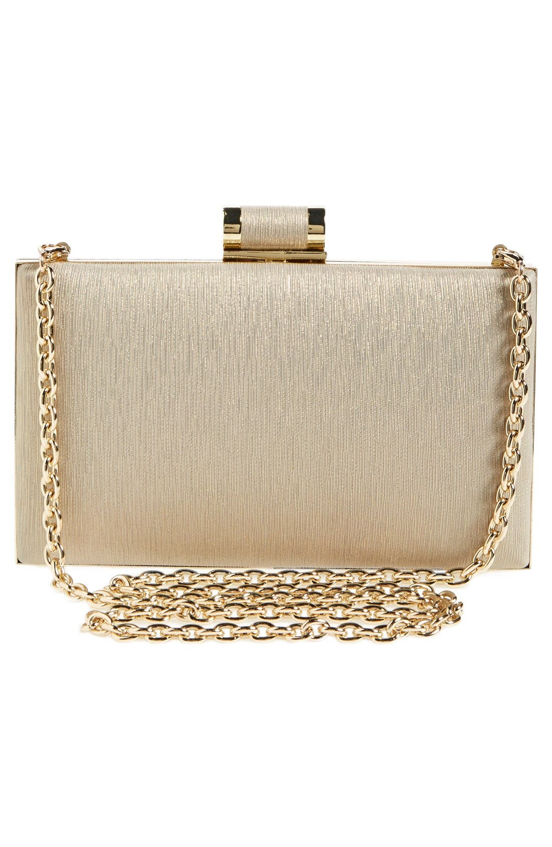 Alternate Image 4  - Ivanka Trump Faux Leather Minaudiere Clutch