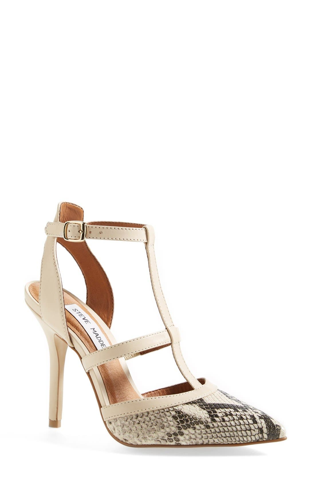 'Surfice' Pointy Toe Pump,                         Main,                         color, Natural Multi