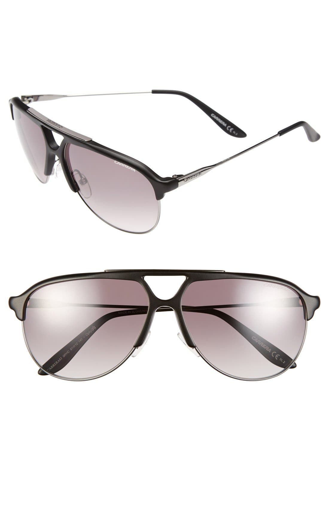 61mm Sunglasses,                             Main thumbnail 1, color,                             Ruthenium