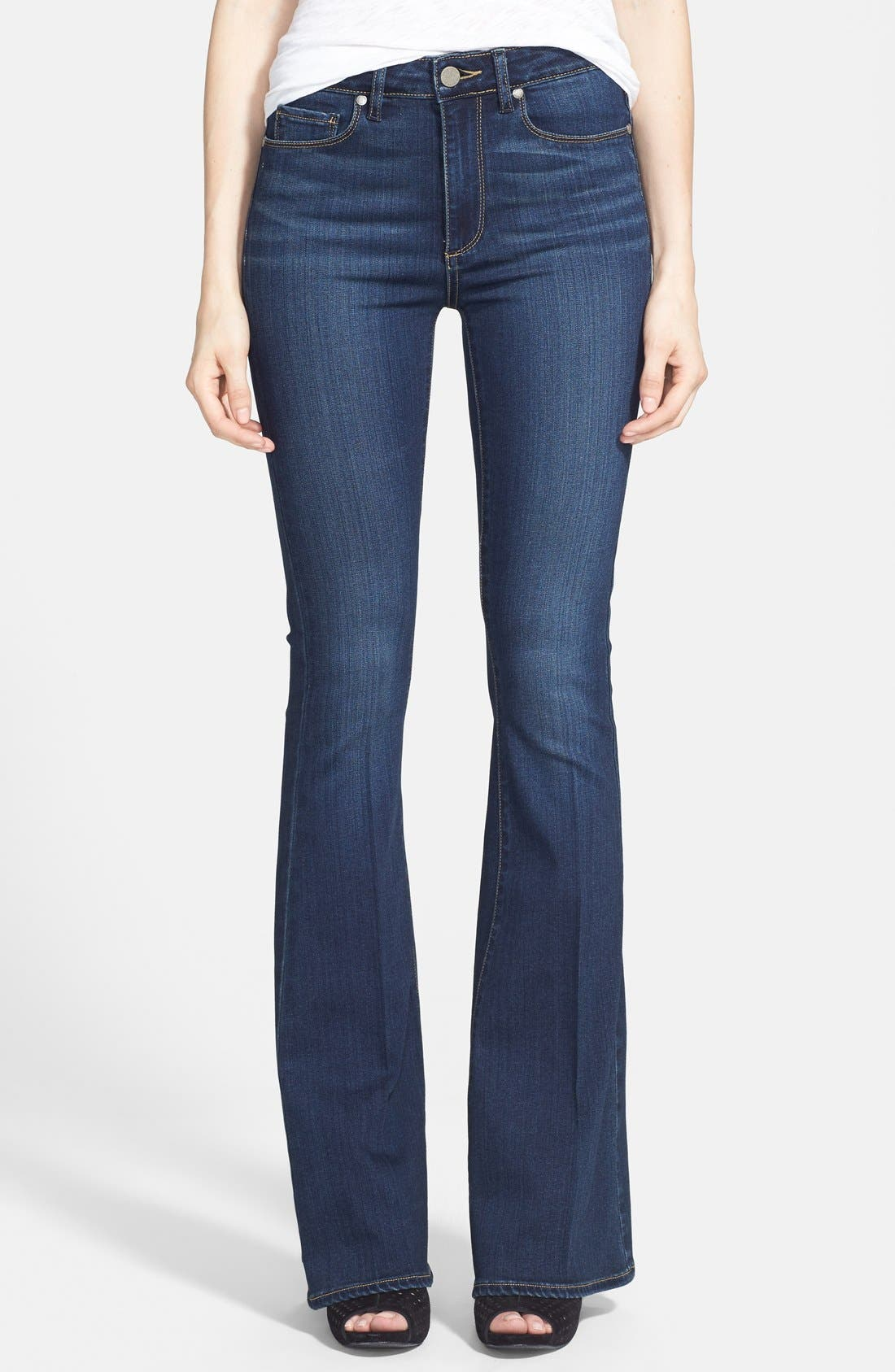 Main Image - PAIGE 'Transcend - Bell Canyon' High Rise Flare Jeans (Nottingham)