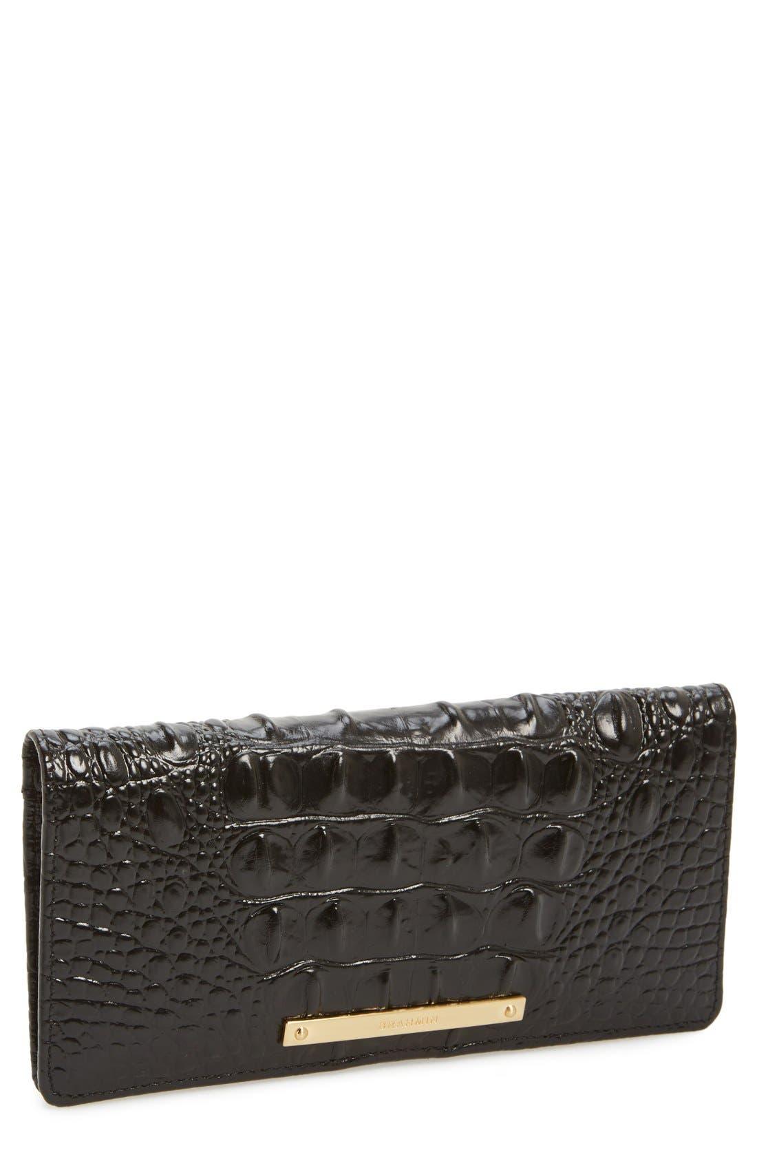 BRAHMIN Ady Croc Embossed Continental Wallet