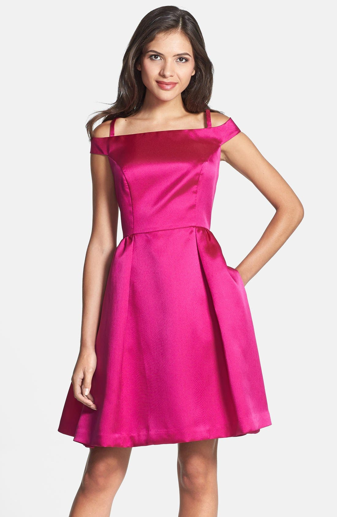 Alternate Image 1 Selected - Isaac Mizrahi New York Off Shoulder Mikado Fit & Flare Dress