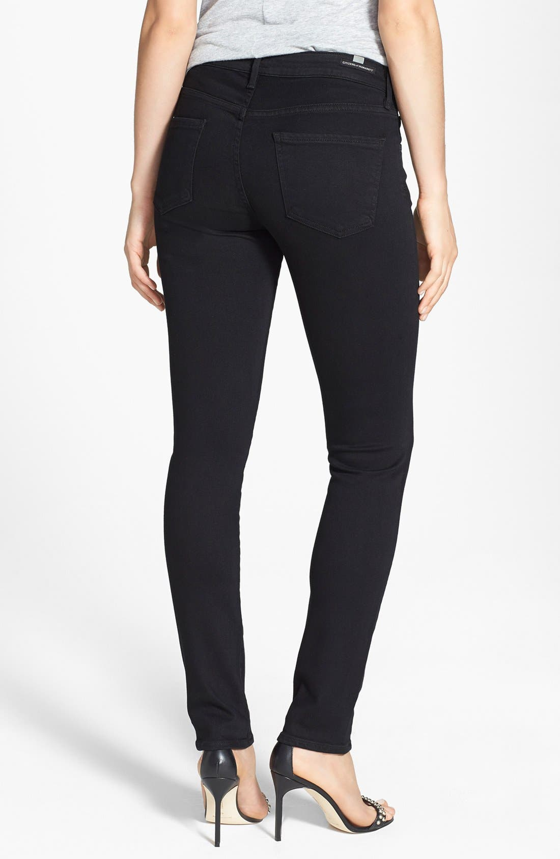 Alternate Image 2  - Citizens of Humanity 'Arielle' Mid Rise Slim Jeans (Tuxedo)