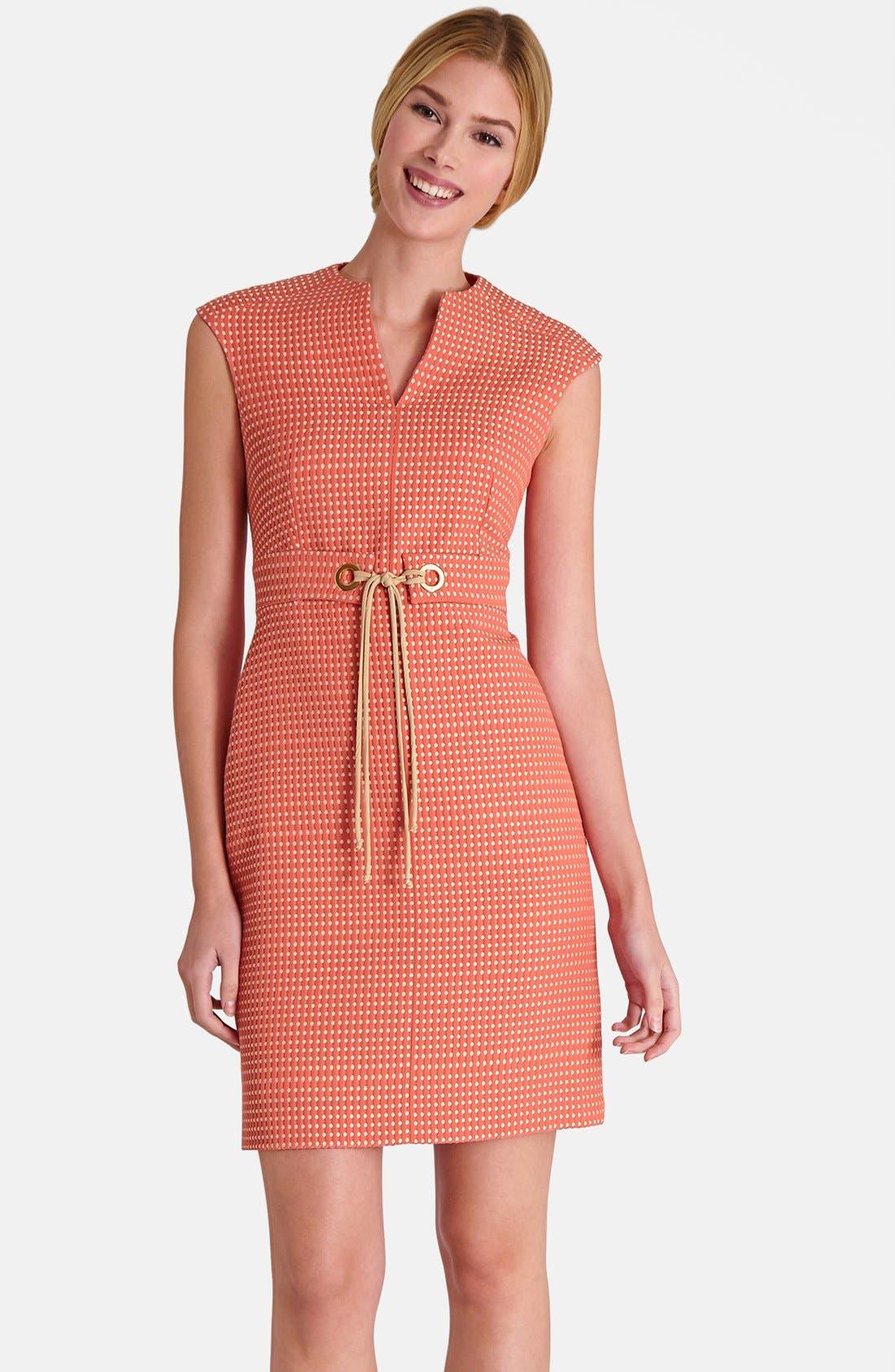 Alternate Image 1 Selected - Tahari Jacquard Sheath Dress (Petite)