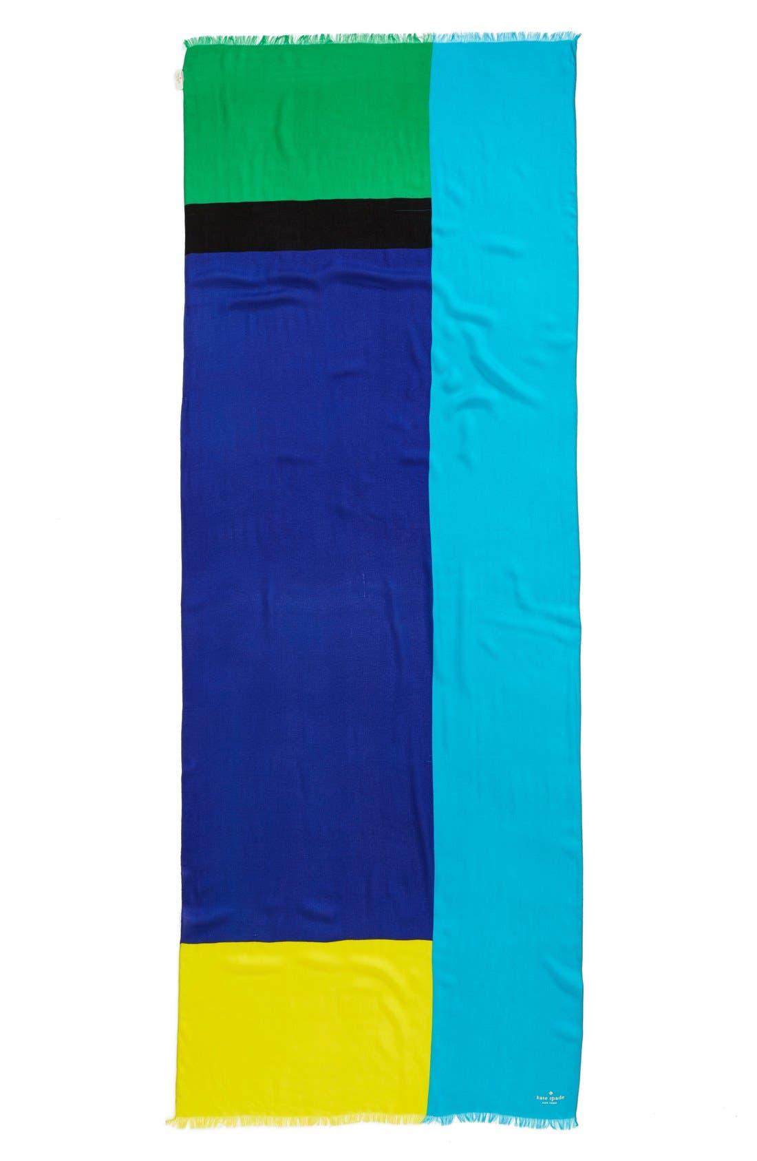 Alternate Image 2  - kate spade new york colorblock scarf