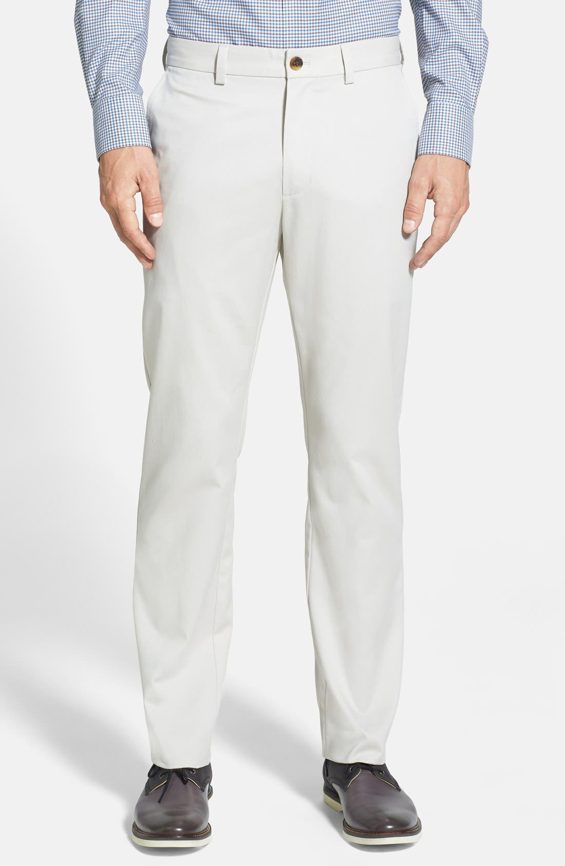 Nordstrom Men's Shop Wrinkle Free Straight Leg Chinos
