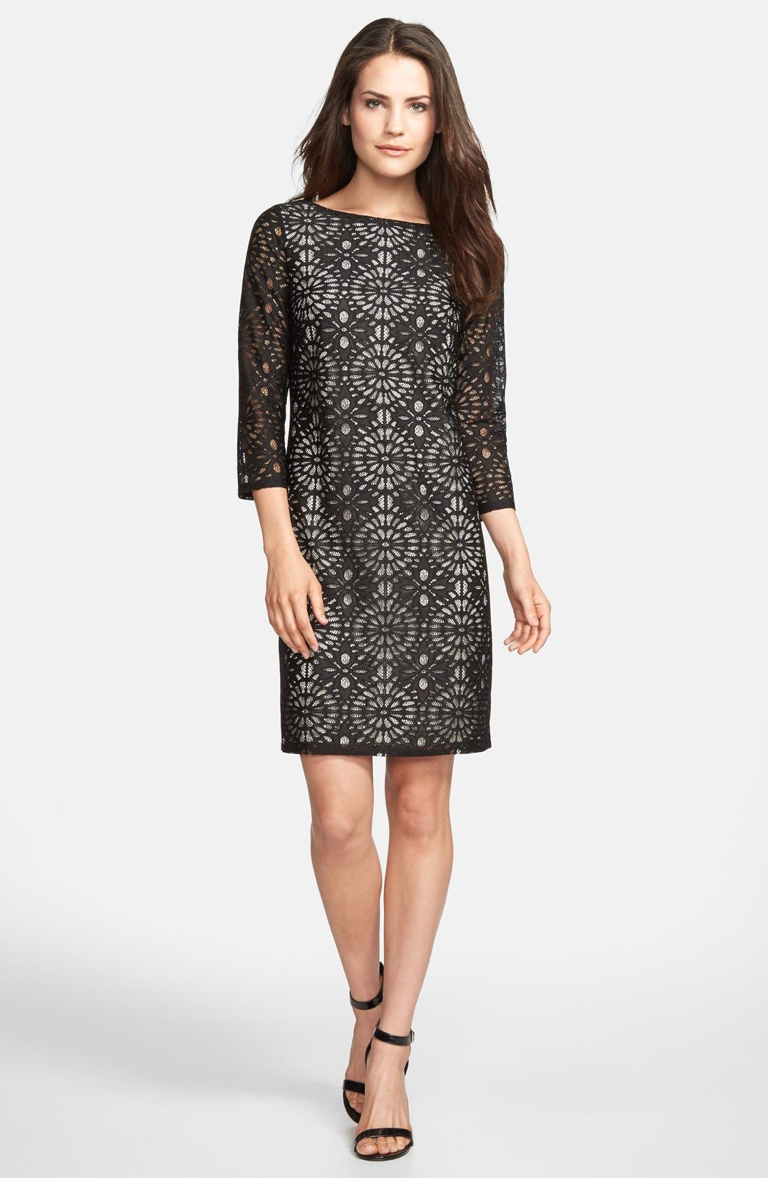 Main Image - wallis Floral Lace Shift Dress