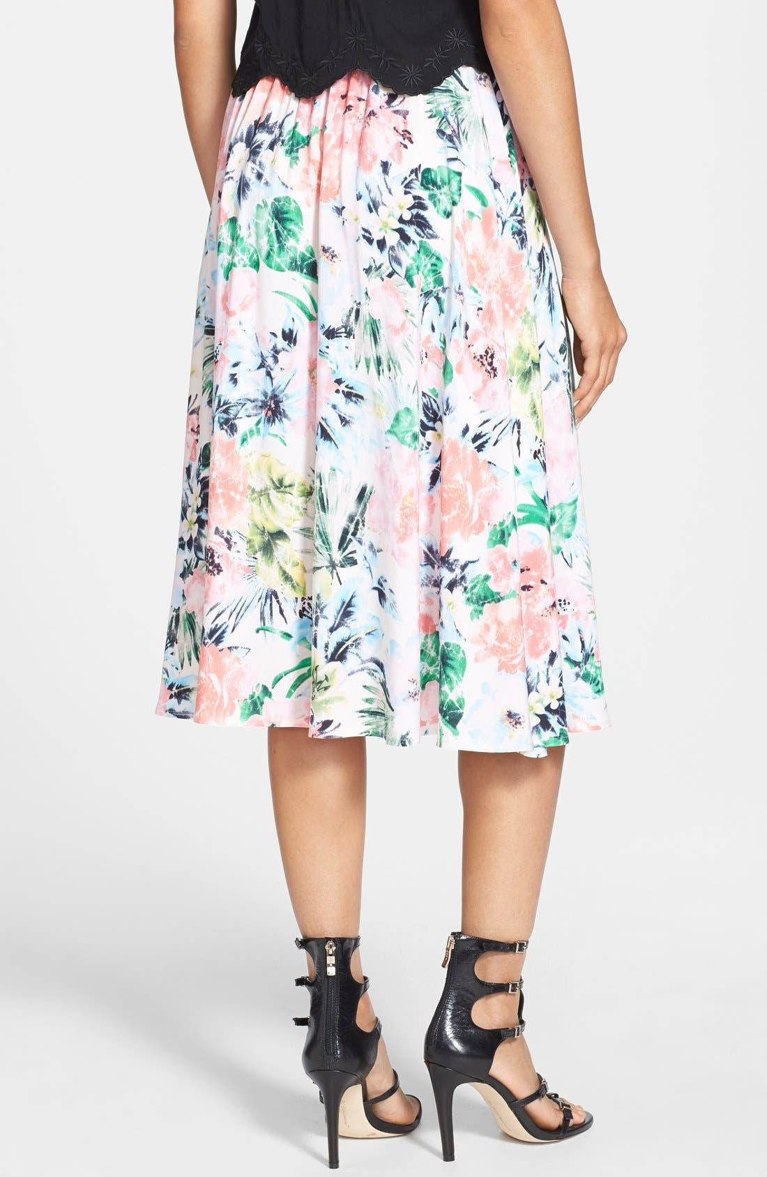Alternate Image 2  - Tildon Floral Midi Skirt