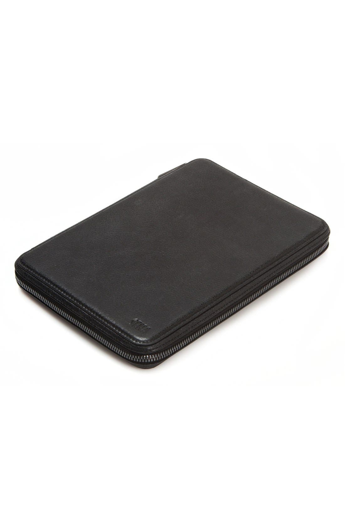 'Heritage' iPad mini Zip Case,                             Main thumbnail 1, color,                             Black