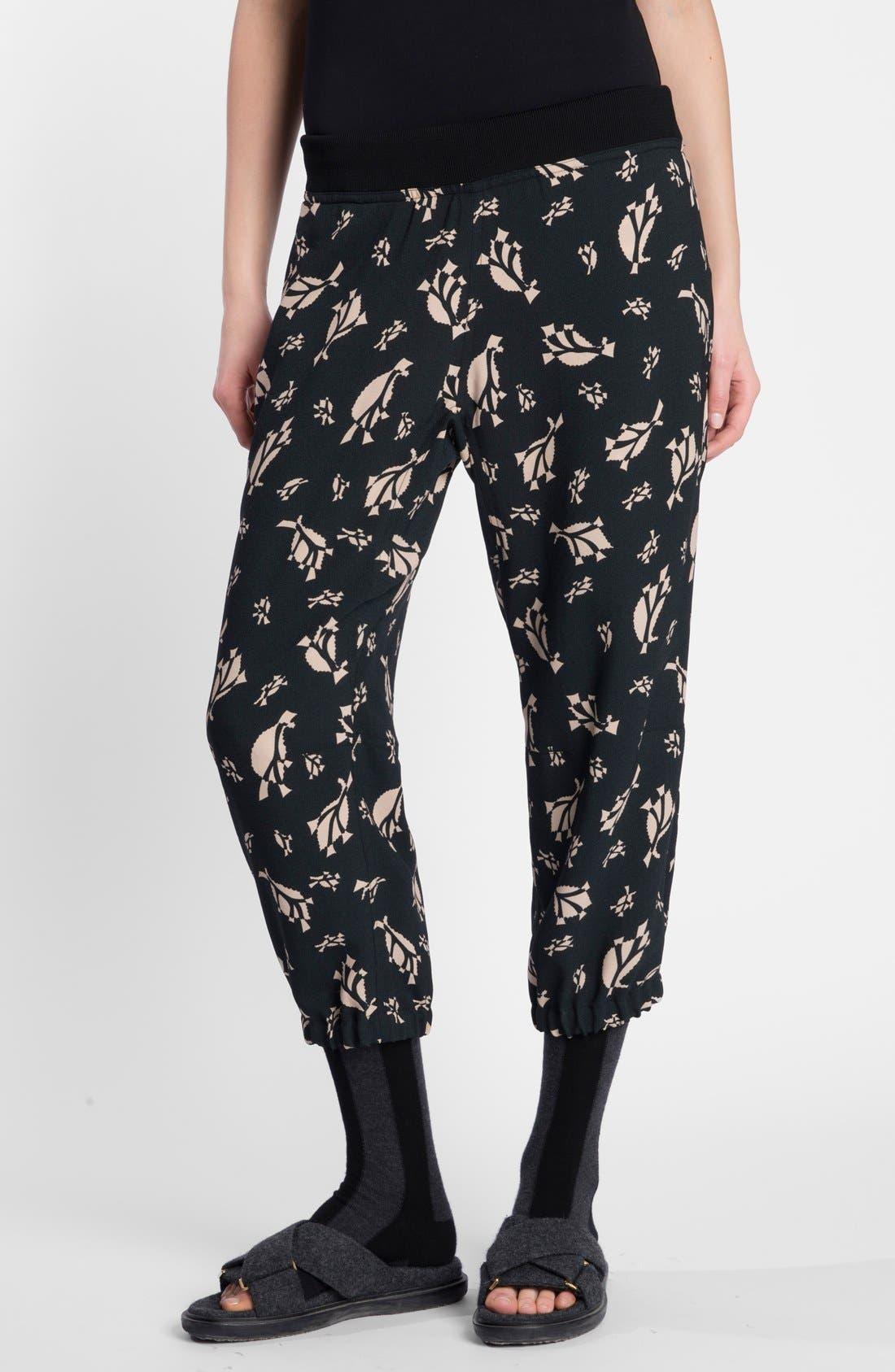 Main Image - Marni Print Cropped Pants