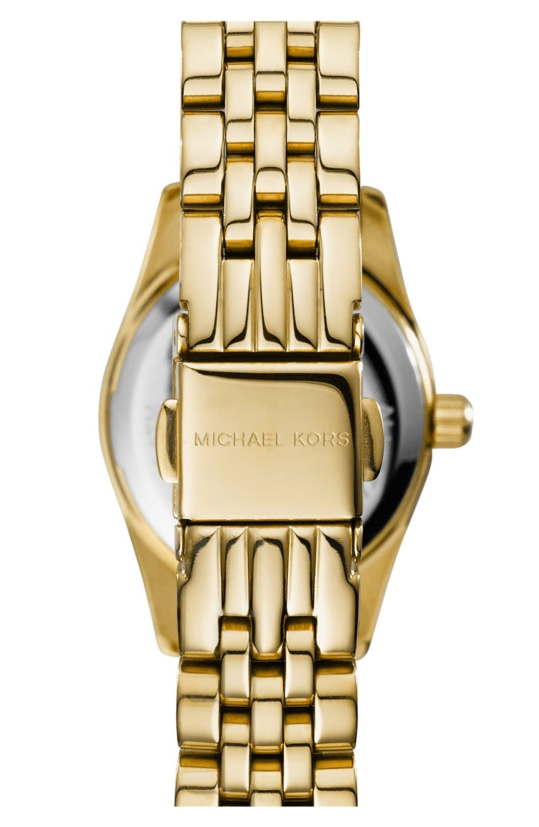 Alternate Image 3  - Michael Kors 'Petite Lexington' Pavé Dial Bracelet Watch, 26mm