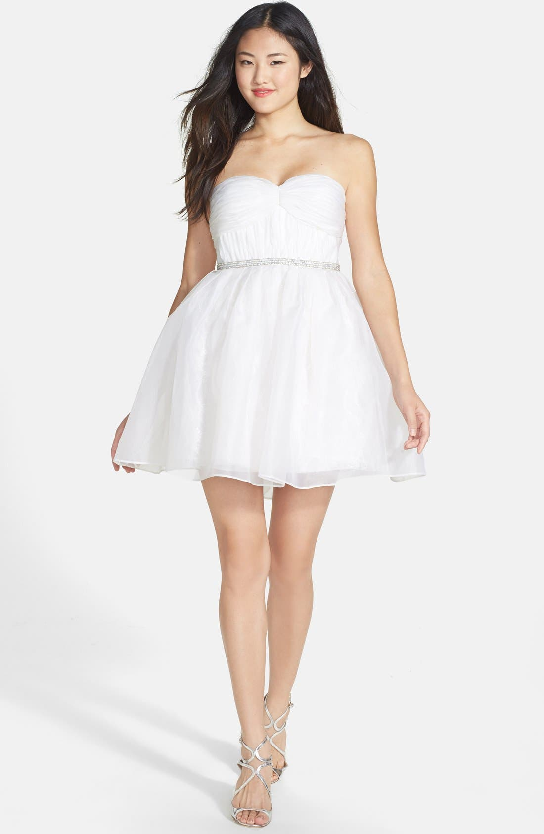 Alternate Image 3  - Ali Ro Strapless Organza & Lace Dress