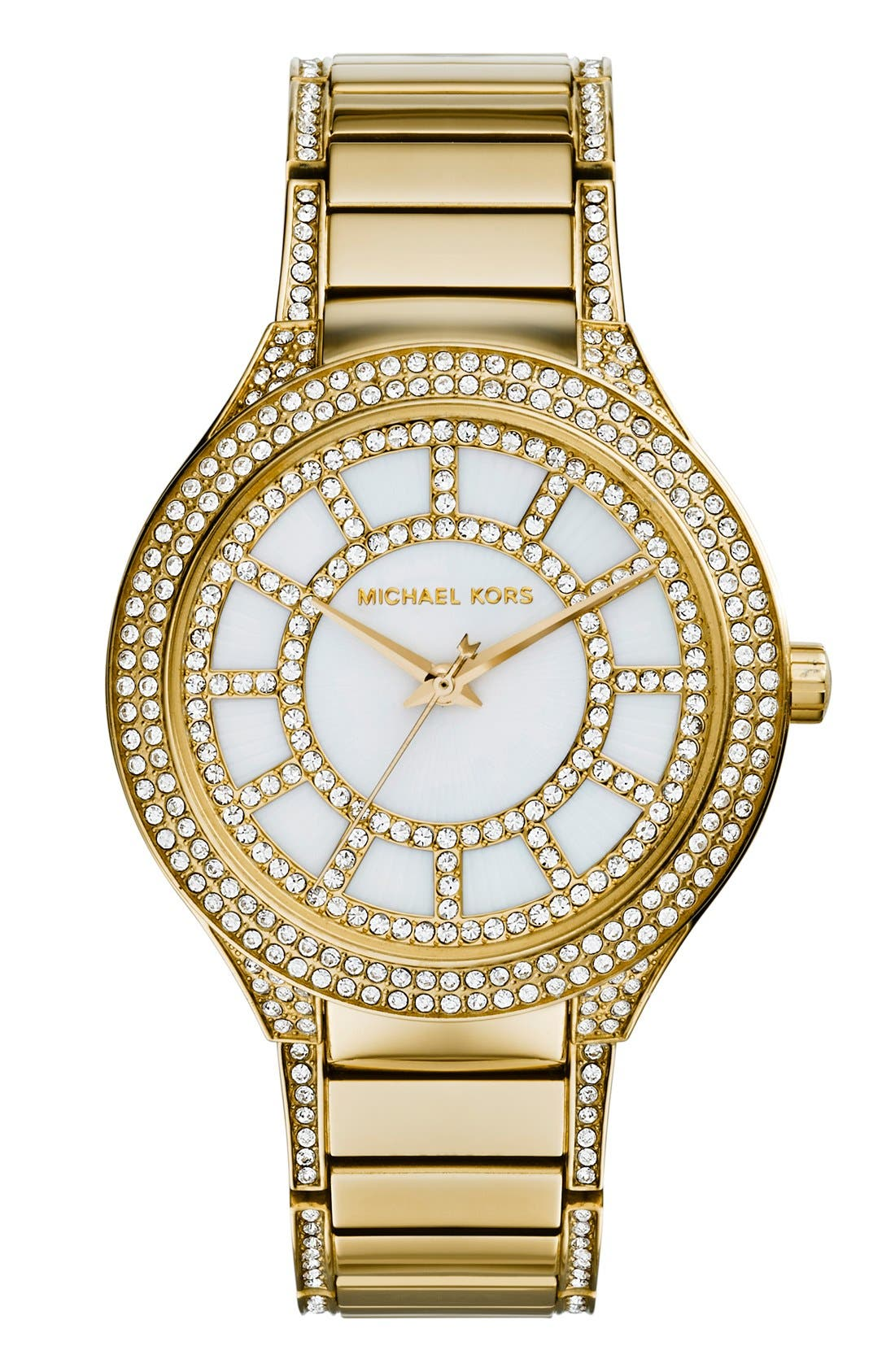Main Image - Michael Kors 'Kerry' Crystal Accent Bracelet Watch, 38mm